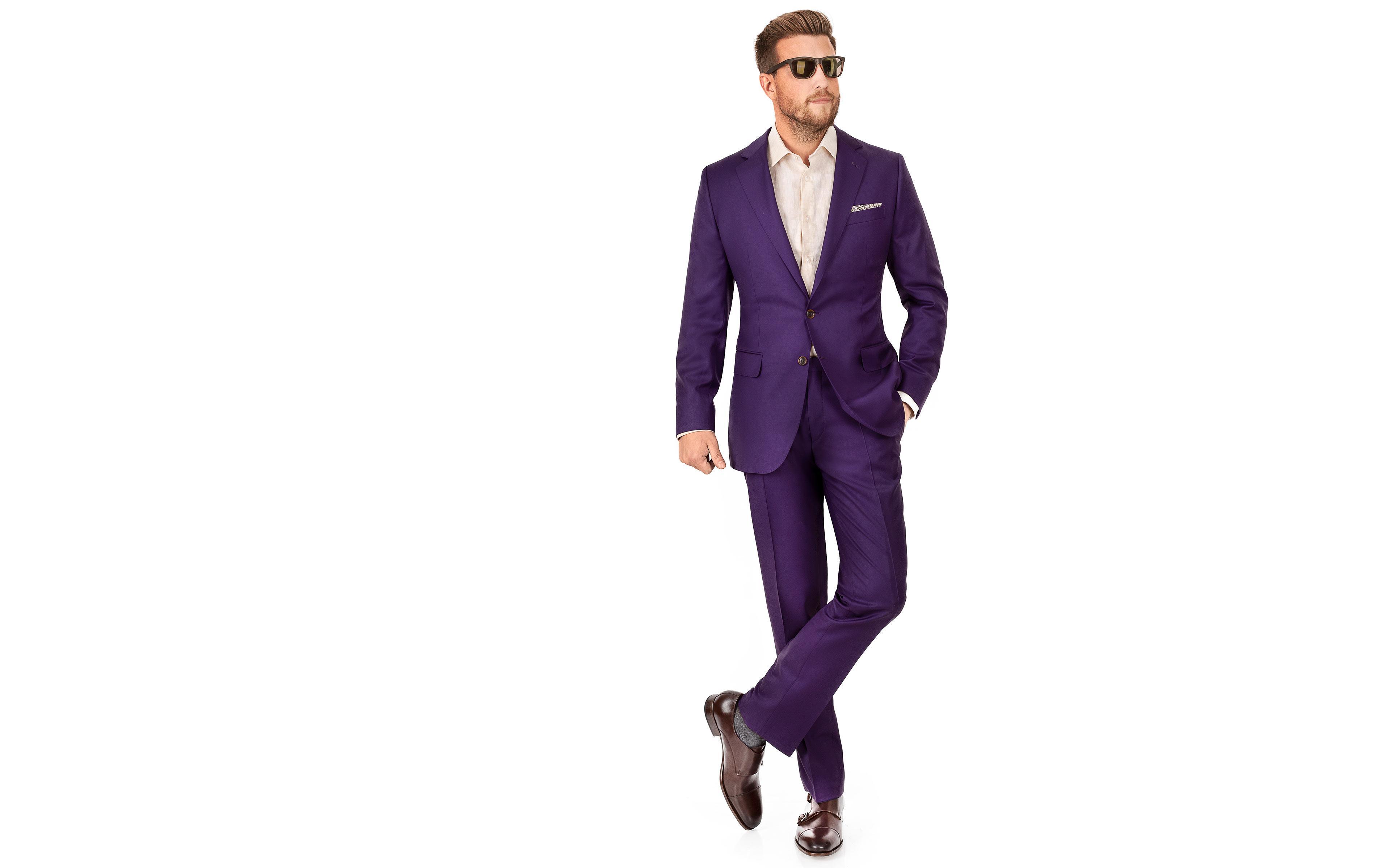 Solid Plum Suit