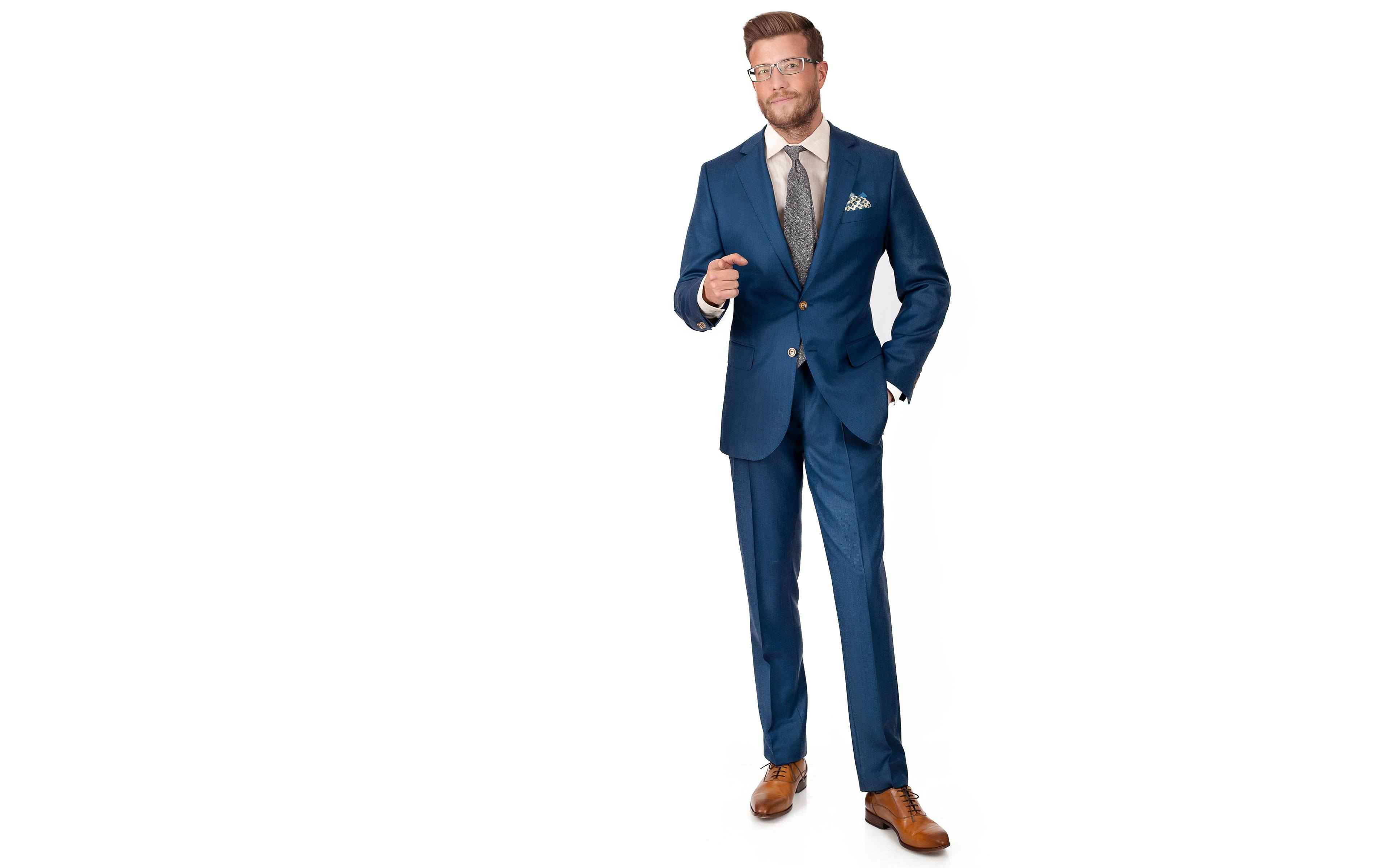 Teal Birdseye Suit