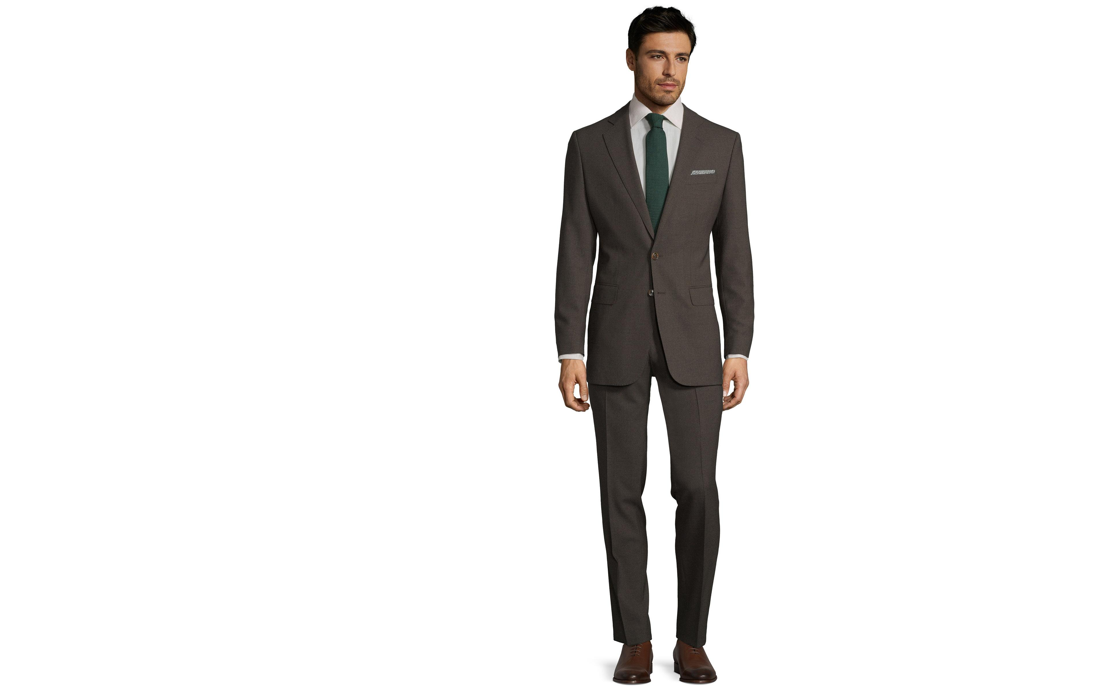 Brown Natural Stretch Suit