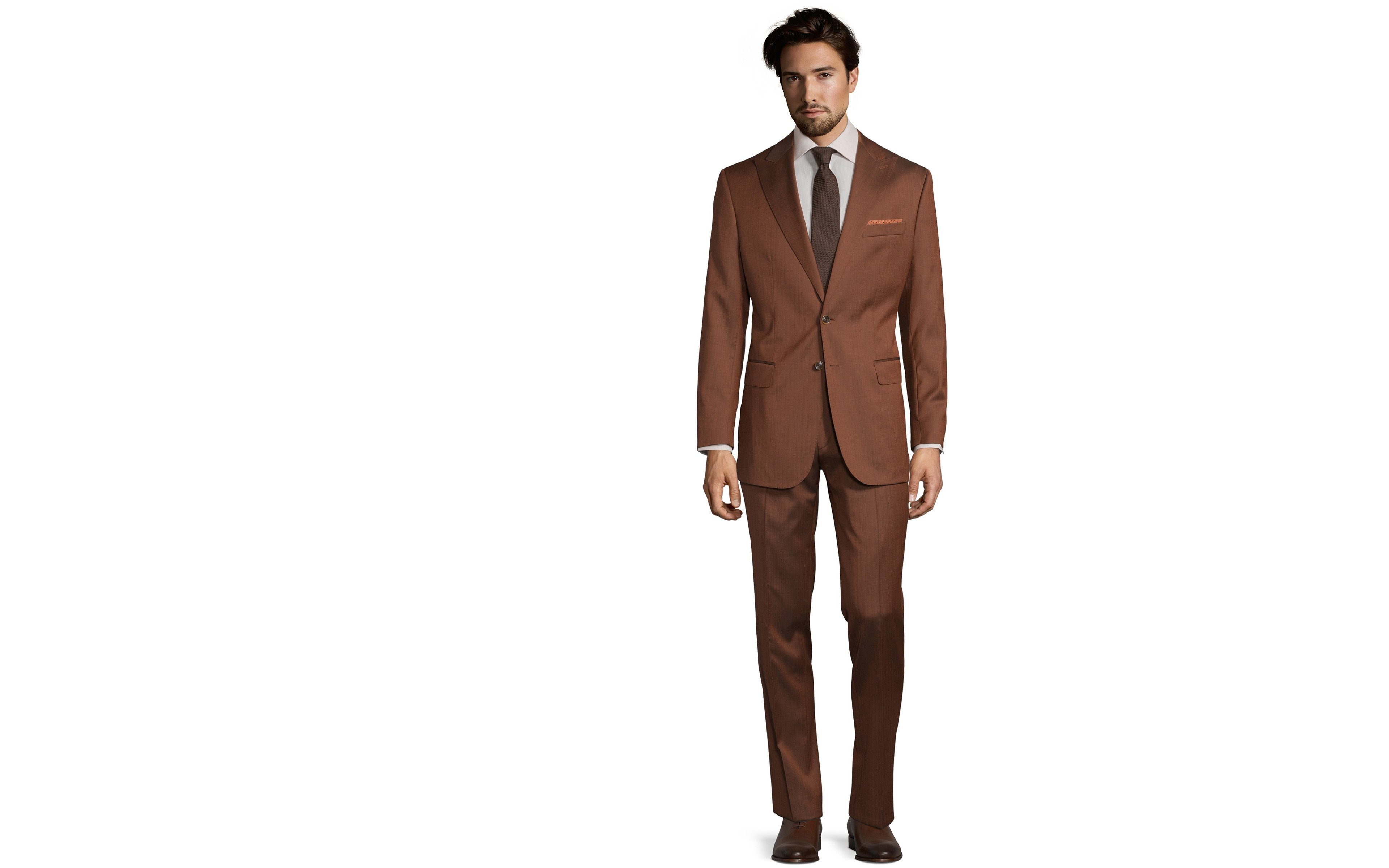 Copper Wool & Silk Suit