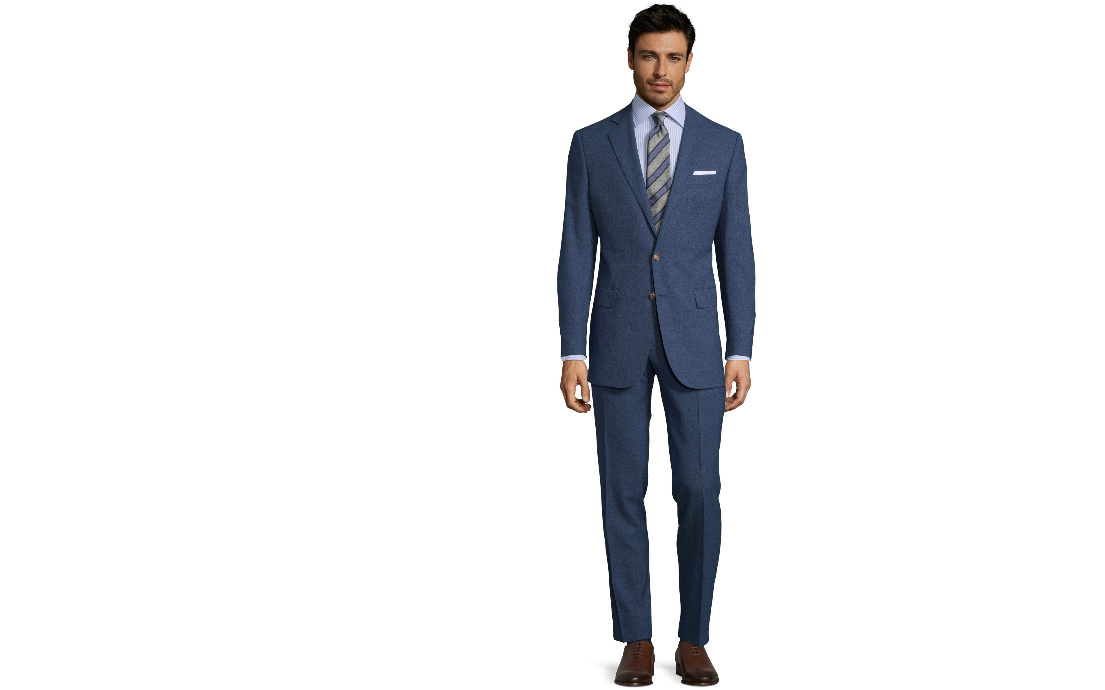 Blue Natural Stretch Suit
