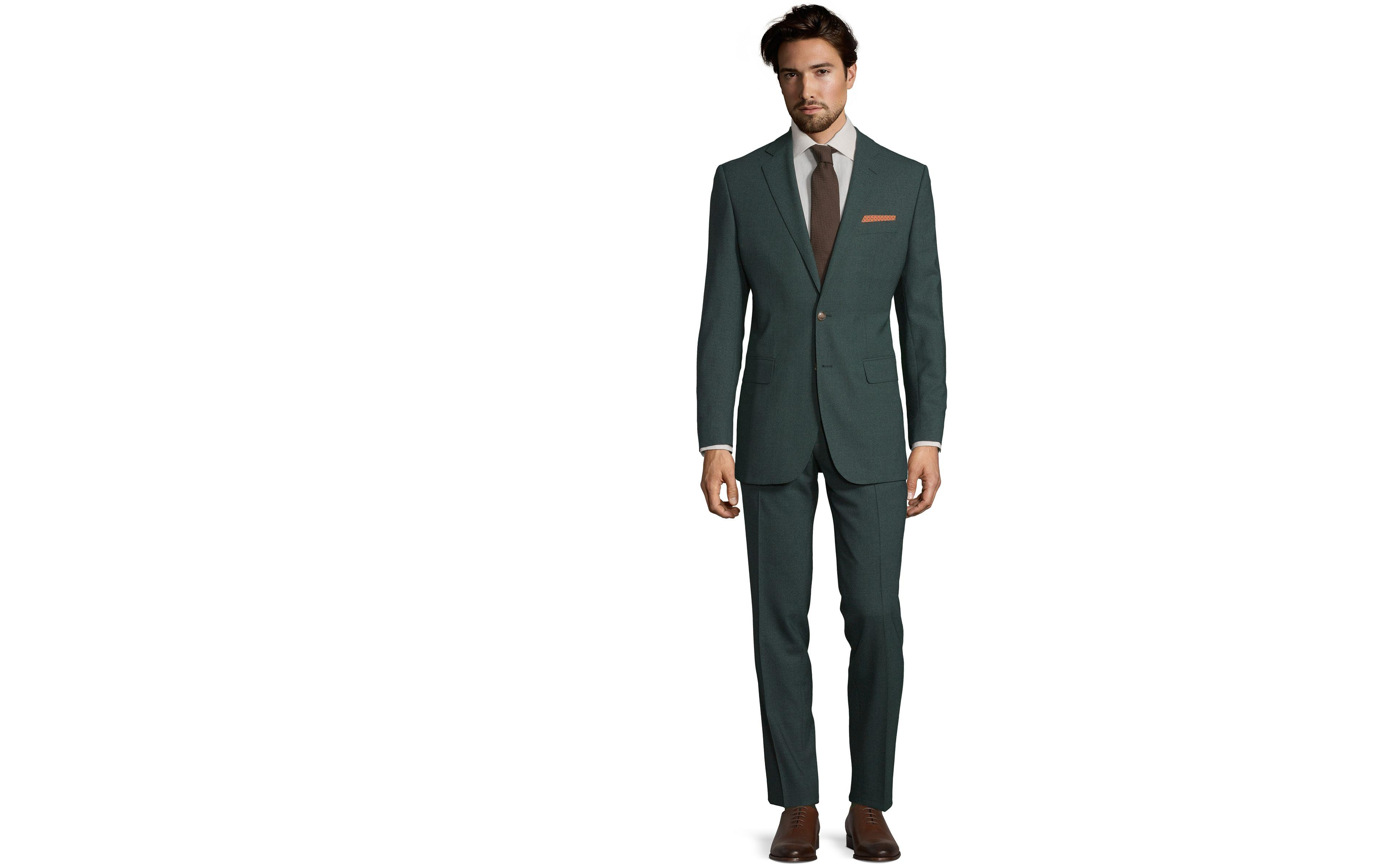 Green Natural Stretch Suit