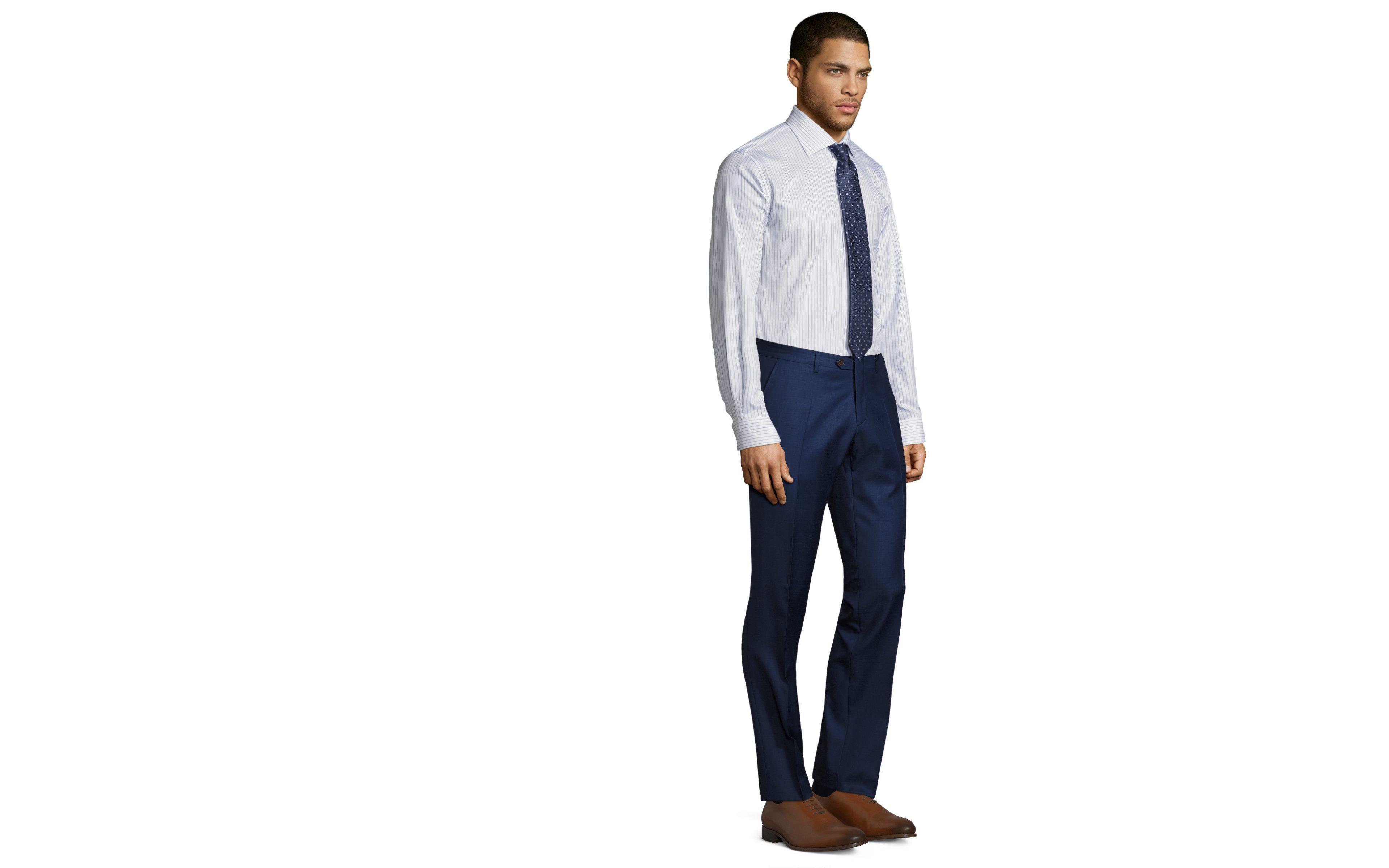 Intense Blue Pick & Pick Dress Pants