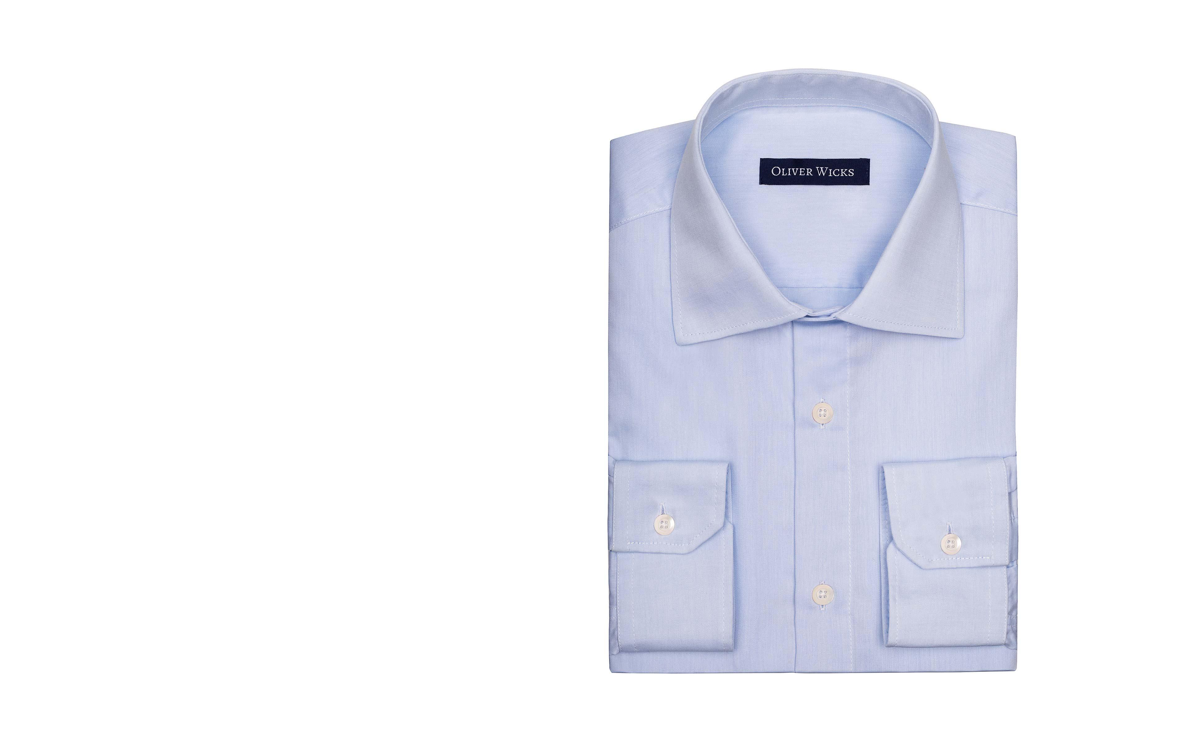 Light Blue Non-iron Cotton Twill Shirt