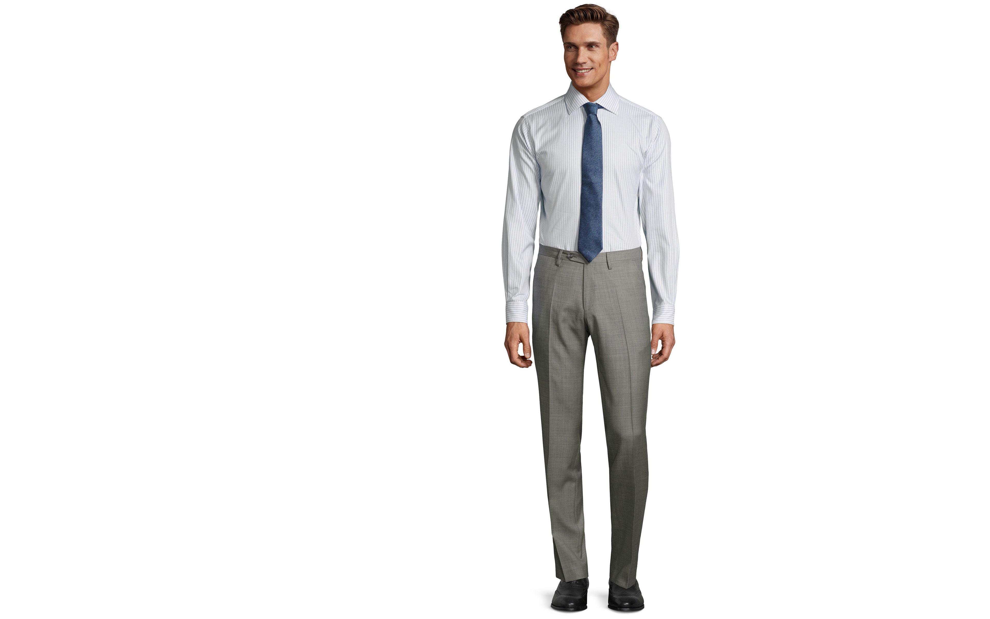 Light Grey Pick & Pick Dress Pants