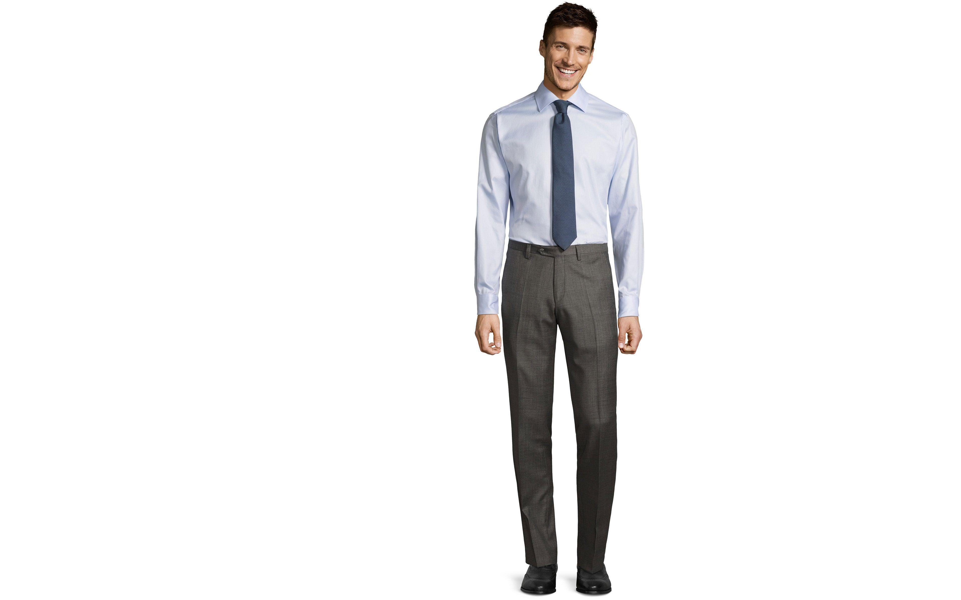 Grey Pick & Pick Dress Pants