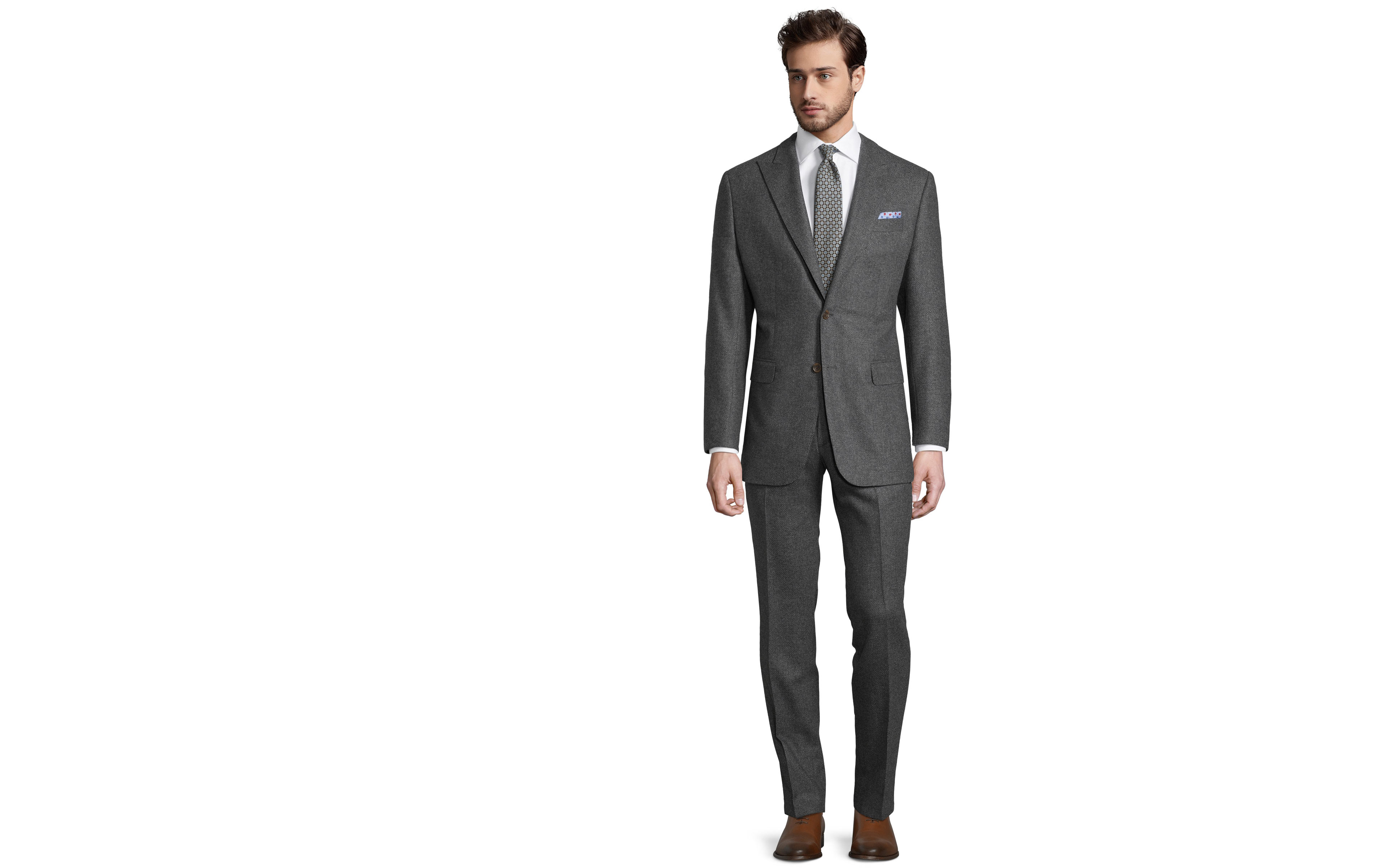 Grey Twill Wool & Cashmere suit