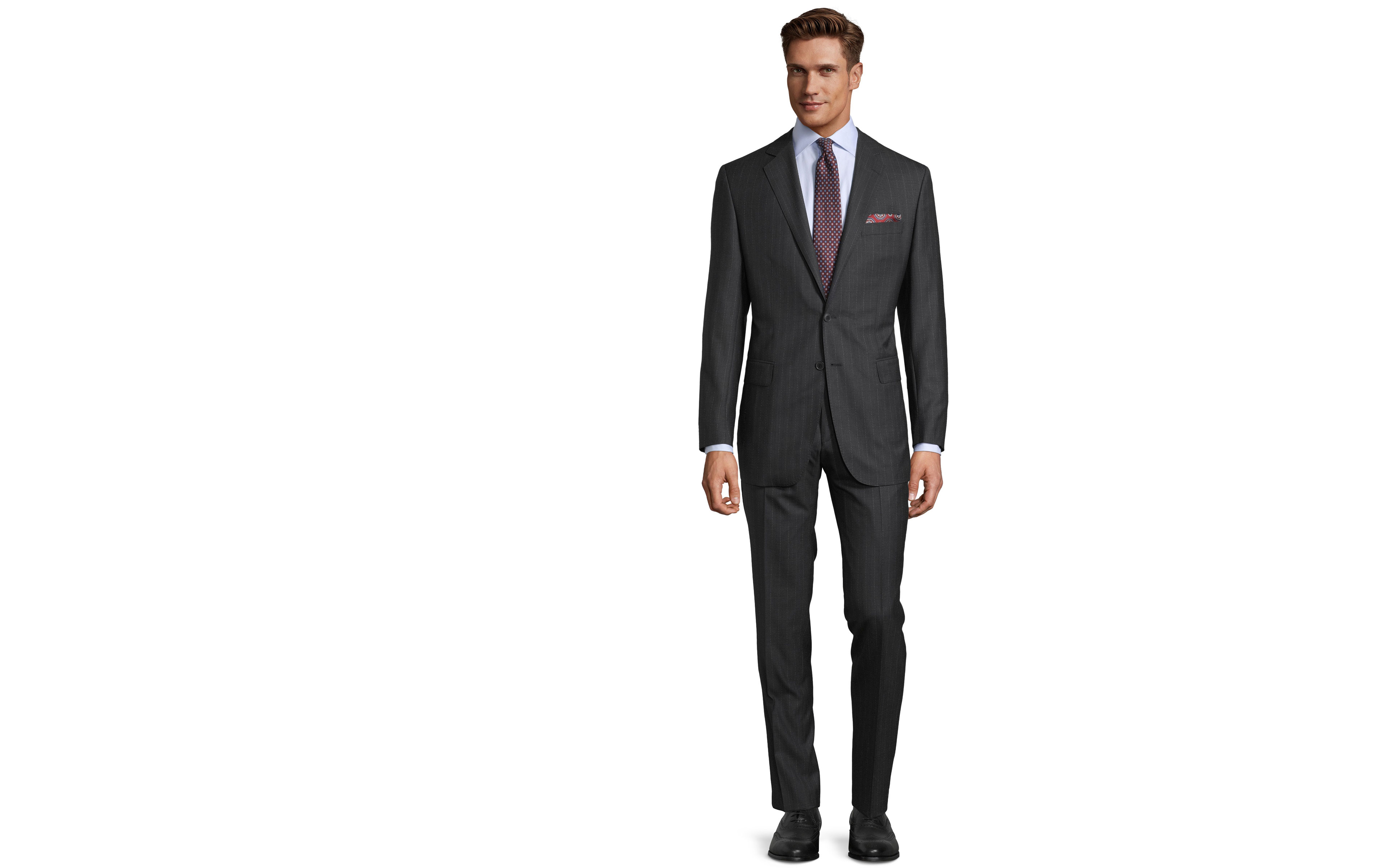 Sartoria Charcoal Pinstripe 160s Suit