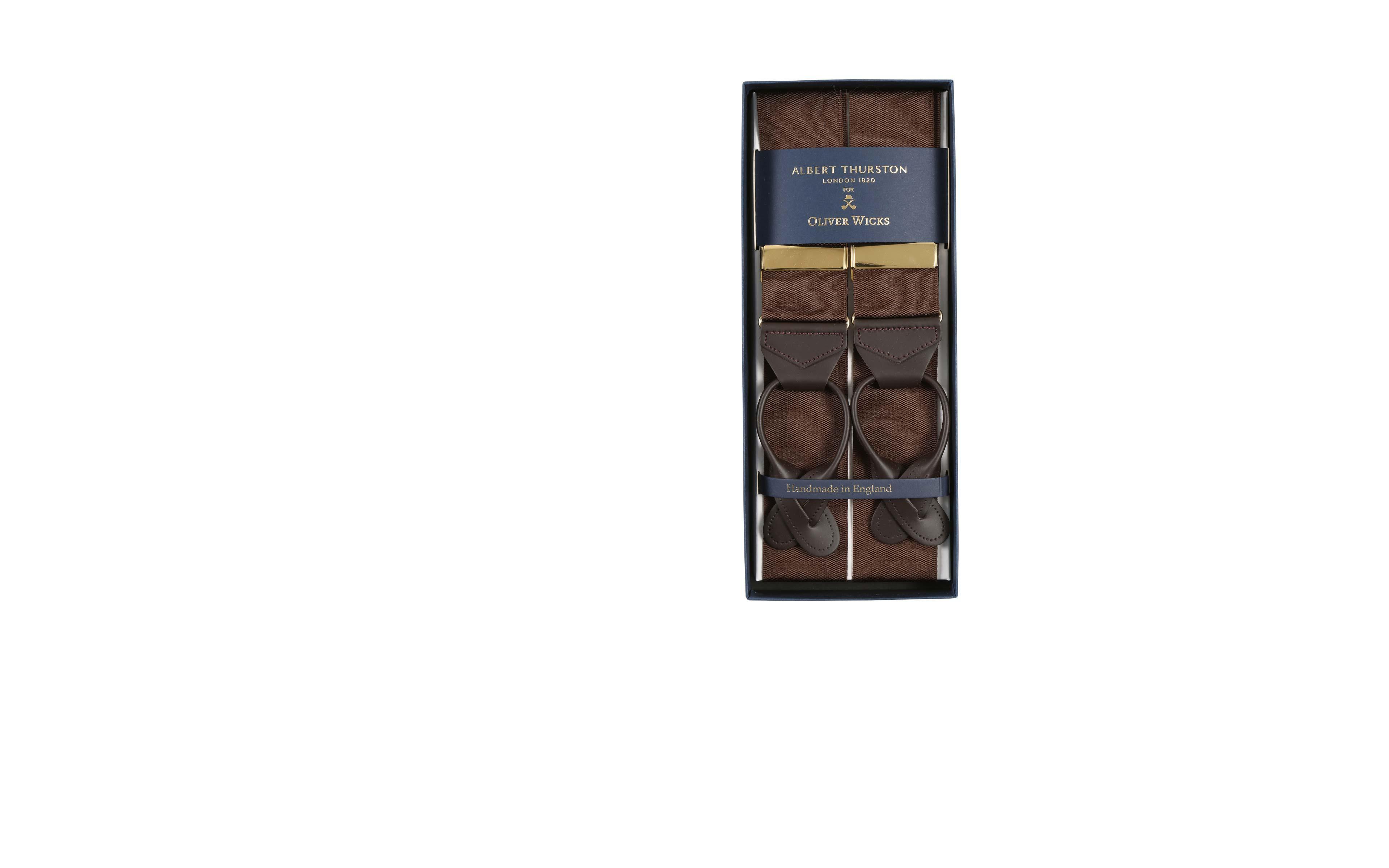 Coffee Brown Suspenders