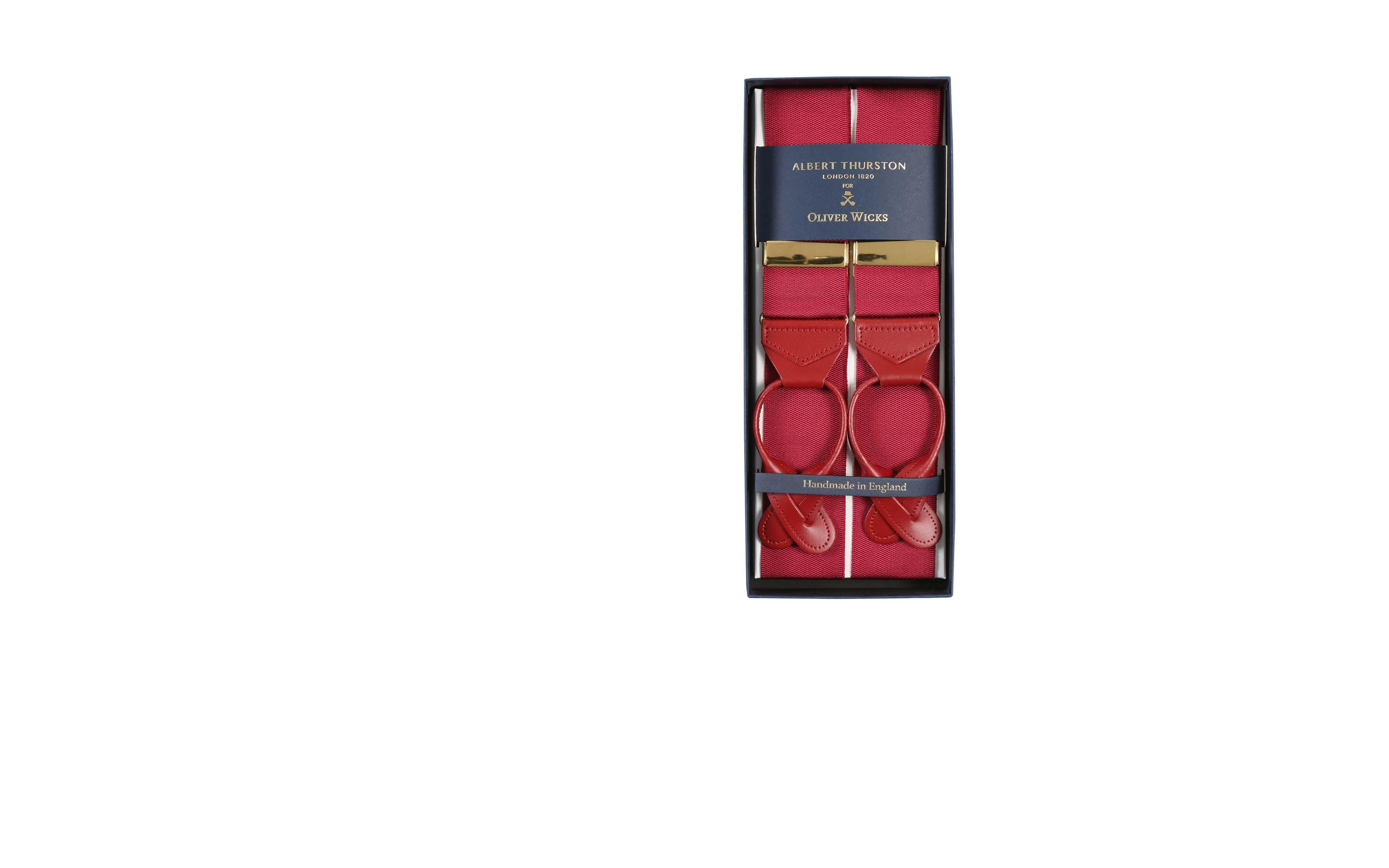 Wine Red Suspenders