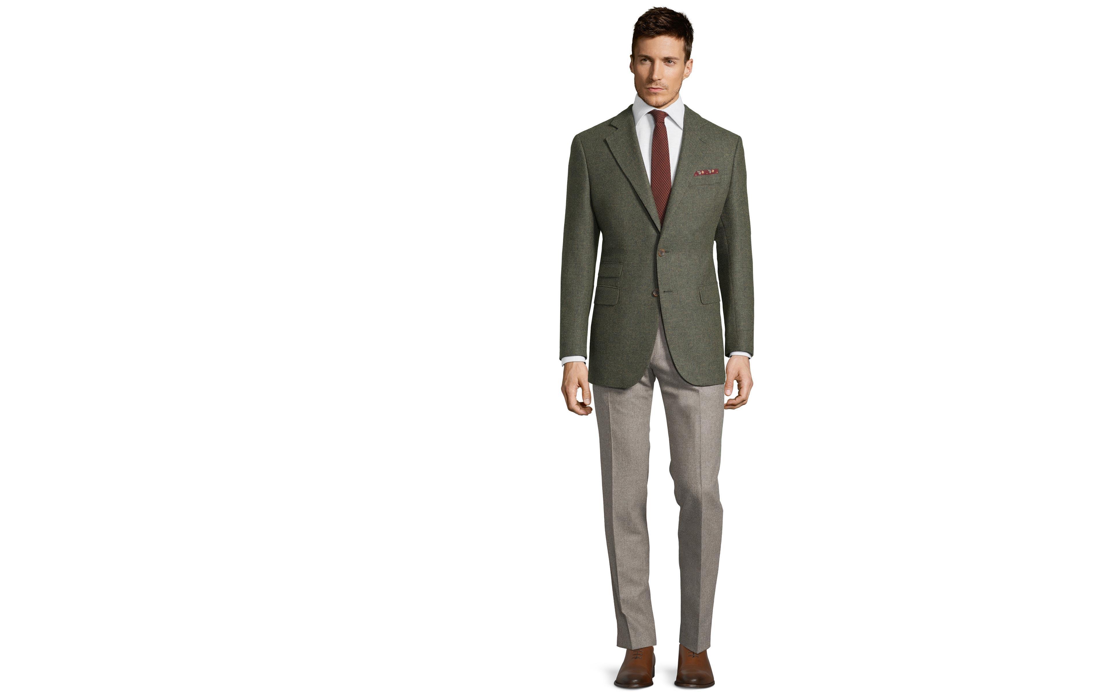 Pastel Green Wool & Cashmere Blazer