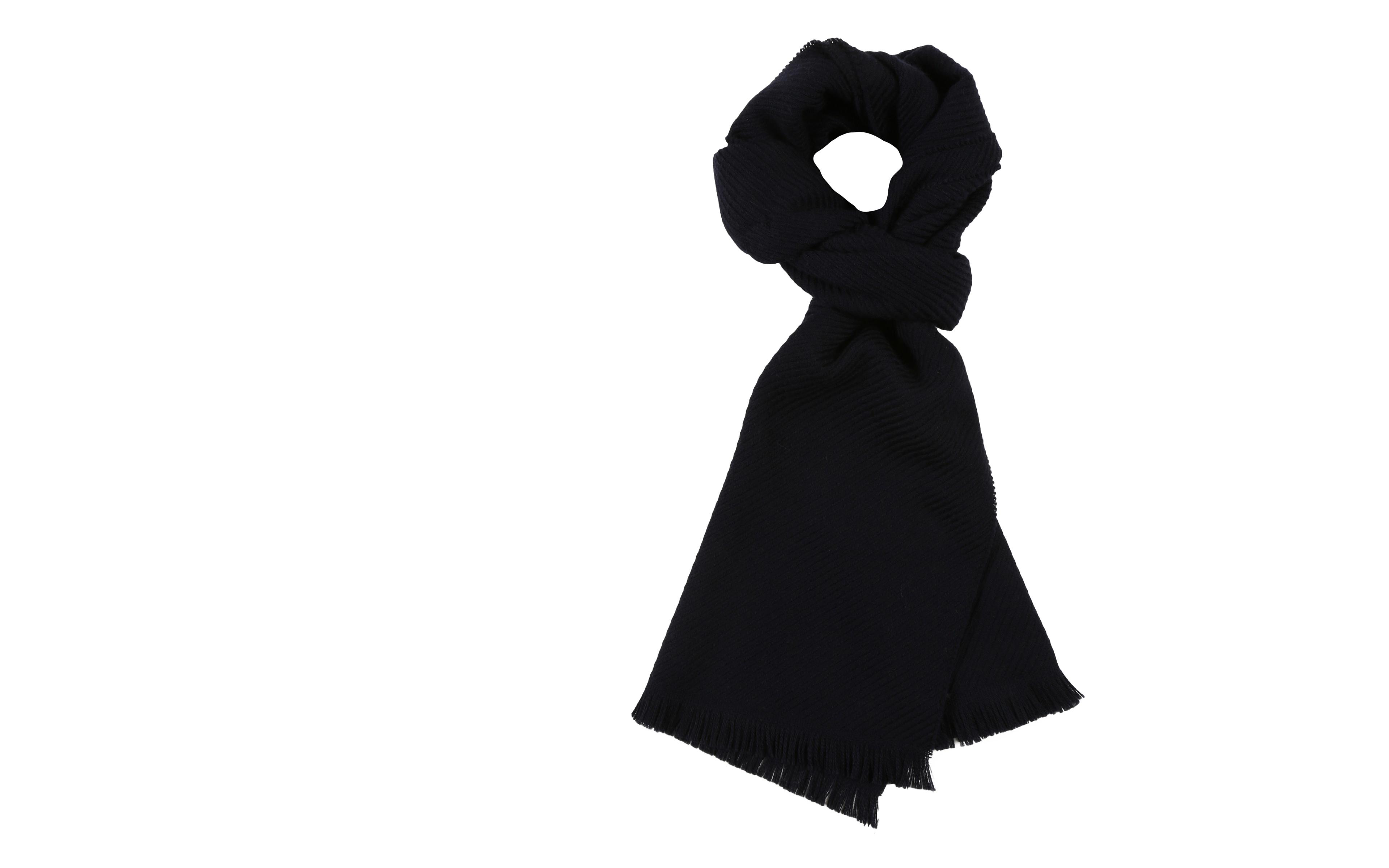 Solid Navy Wool Scarf