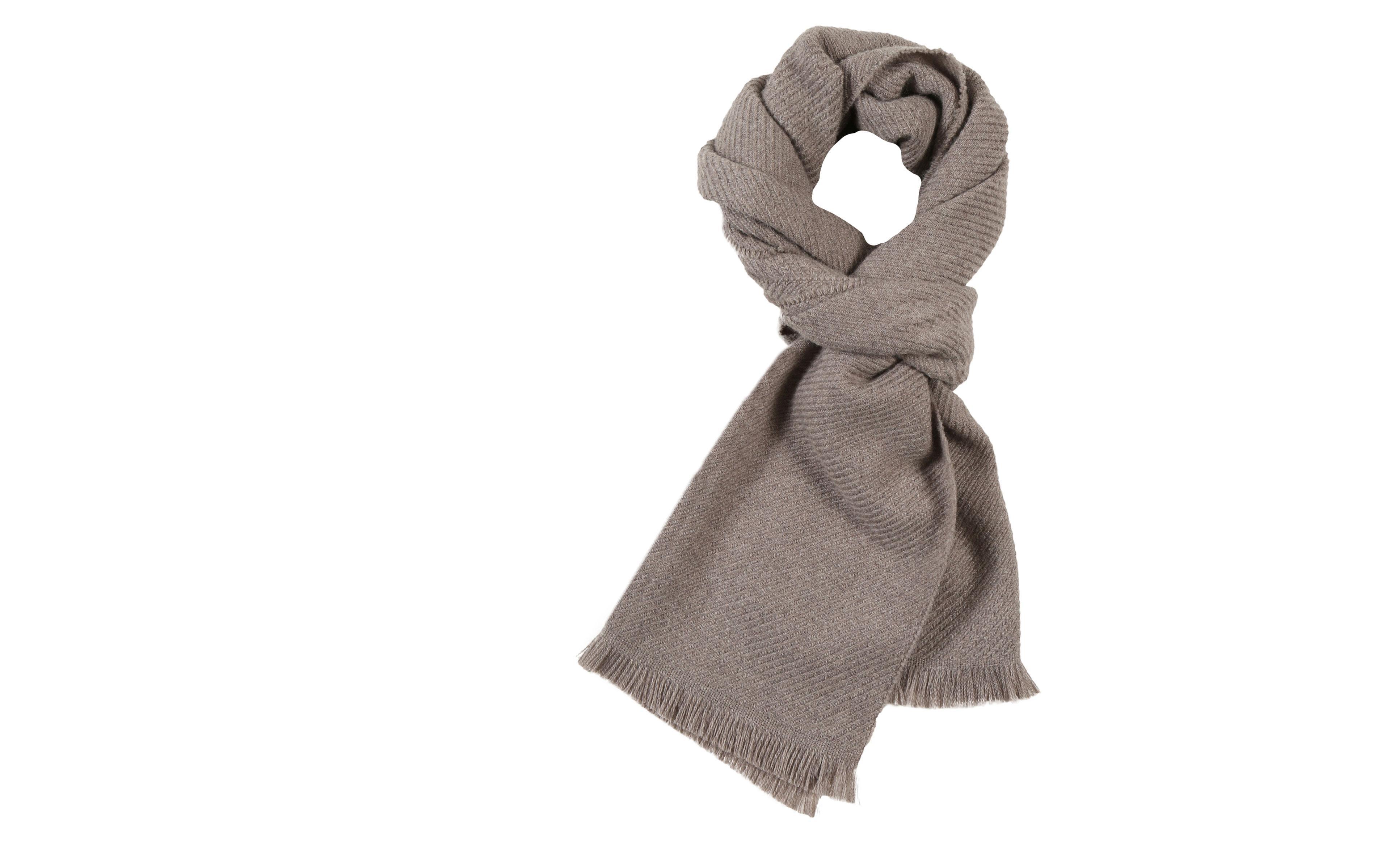 Solid Beige Wool Scarf