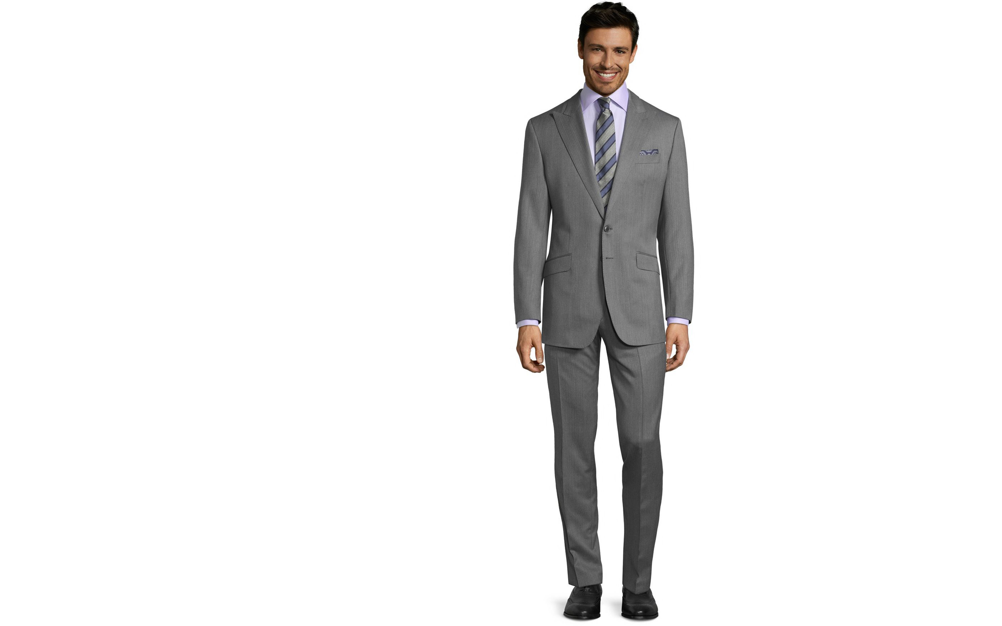 Vendetta Premium Grey Herringbone Suit