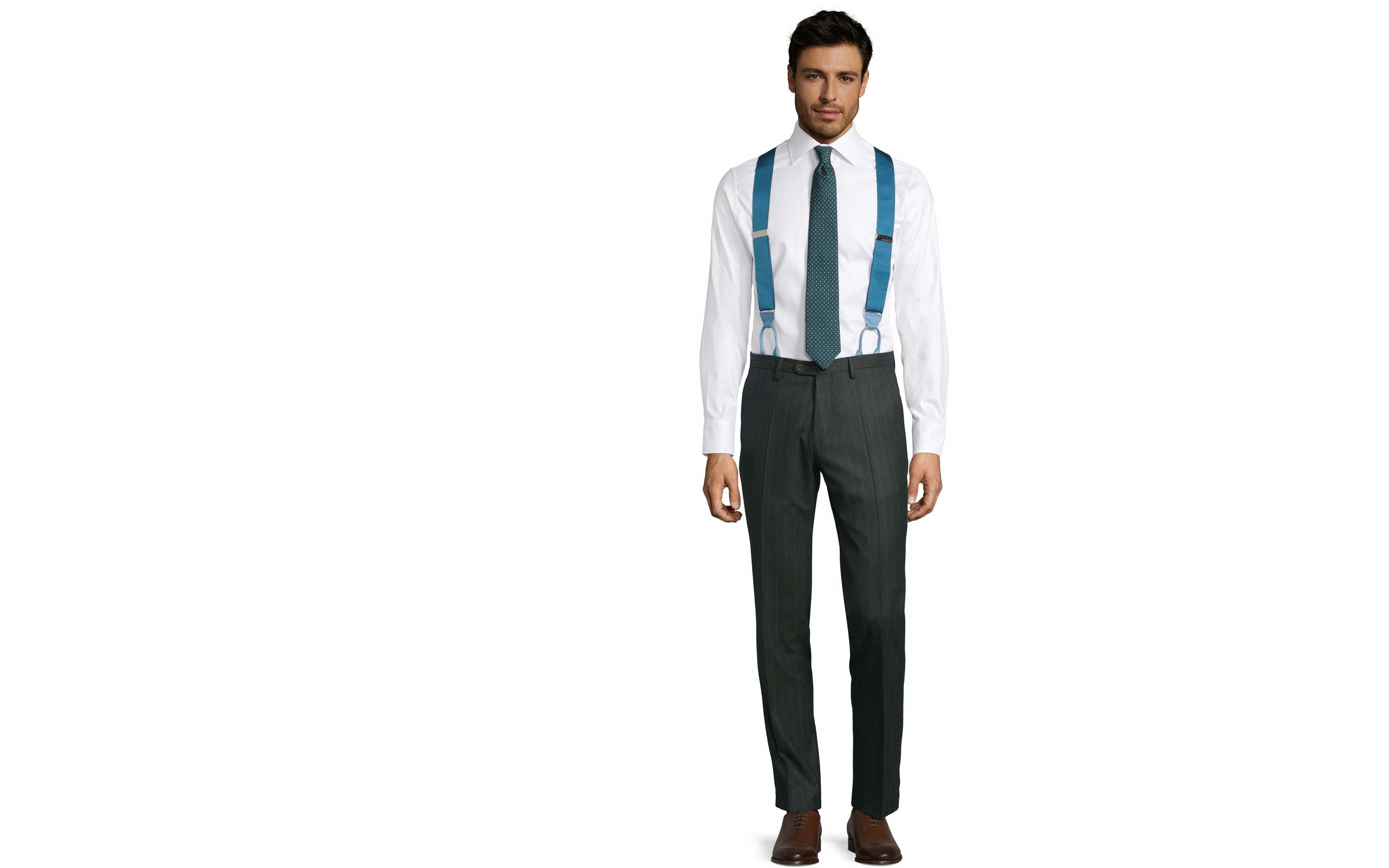 Blue Stripe Green Pants