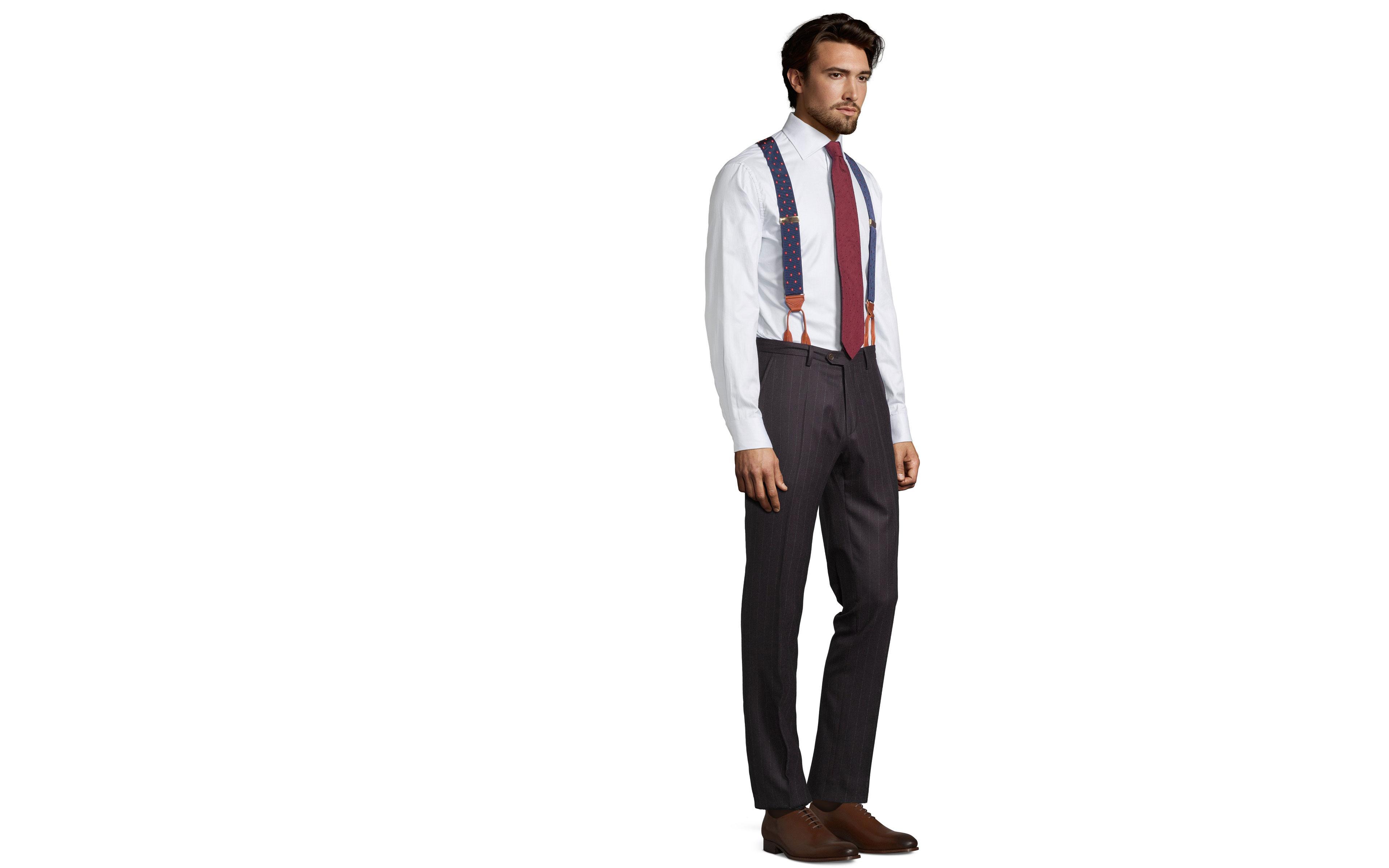 Blue Stripe Brown Pants