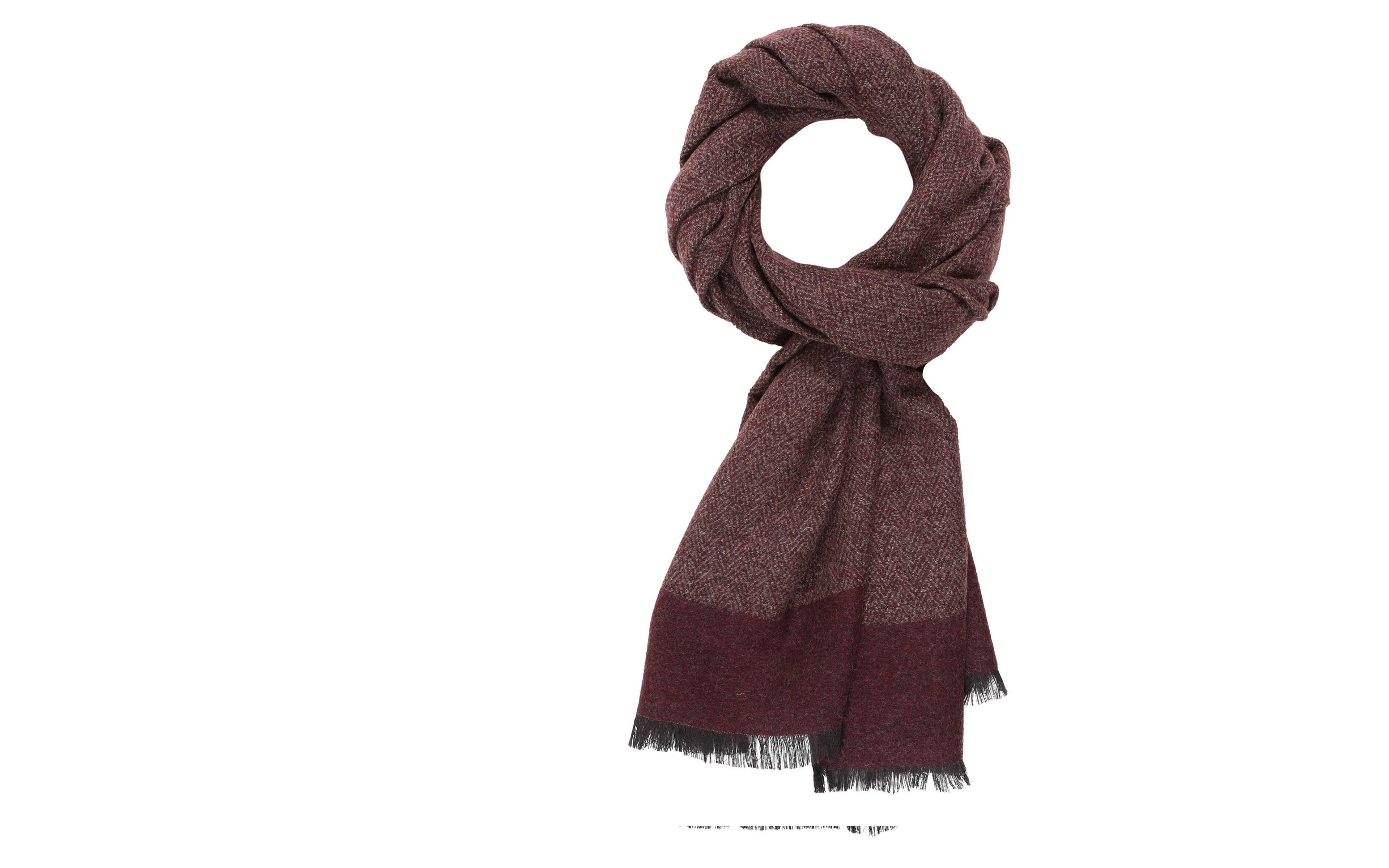 Maroon Melange Wool & Silk Scarf