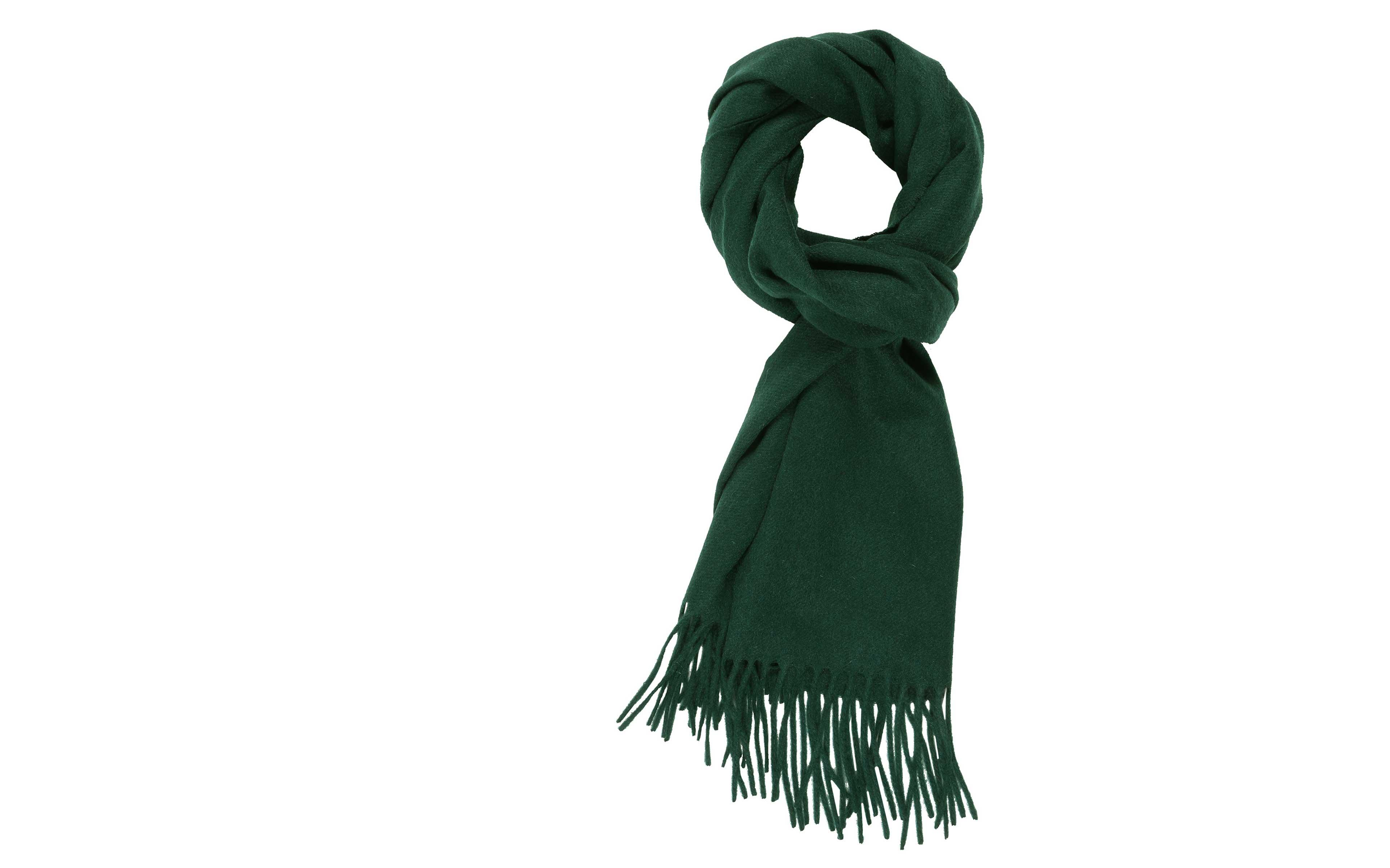 Solid Green Cashmere Scarf