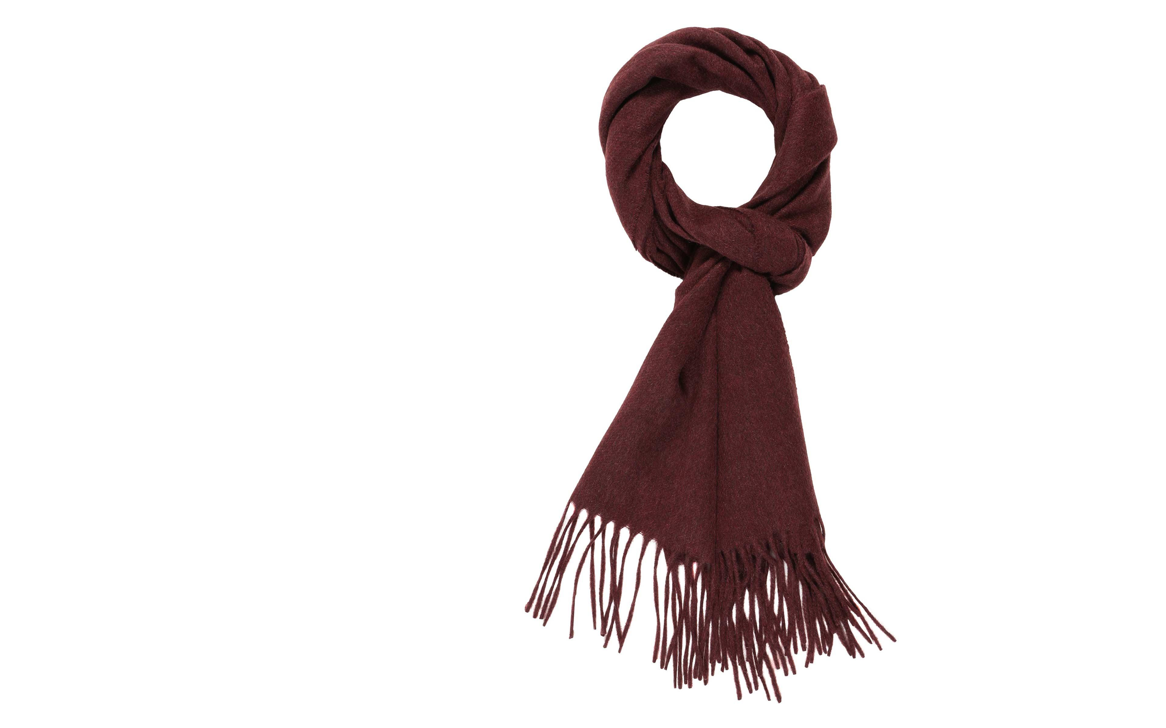 Solid Burgundy Cashmere Scarf