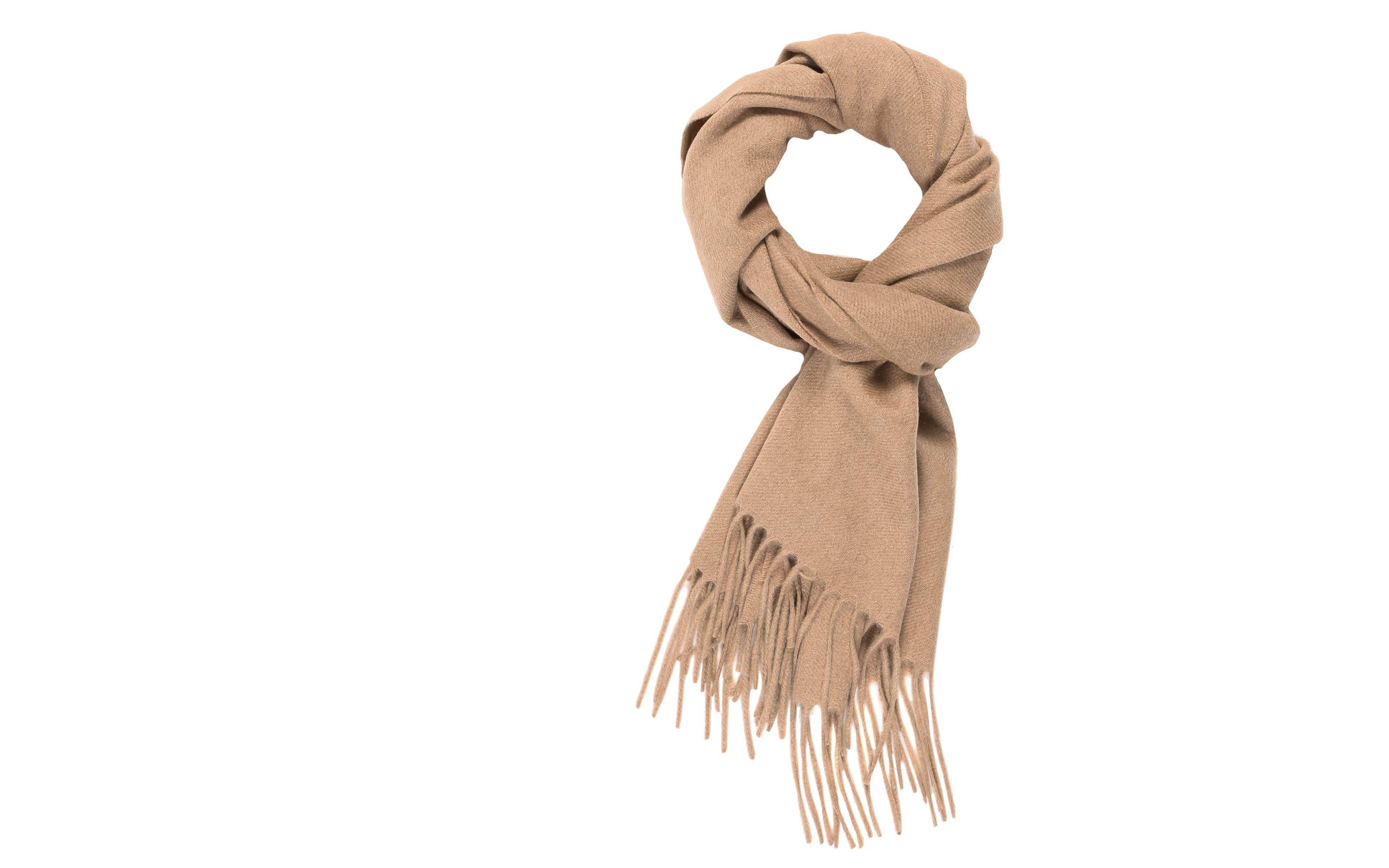 Solid Beige Cashmere Scarf
