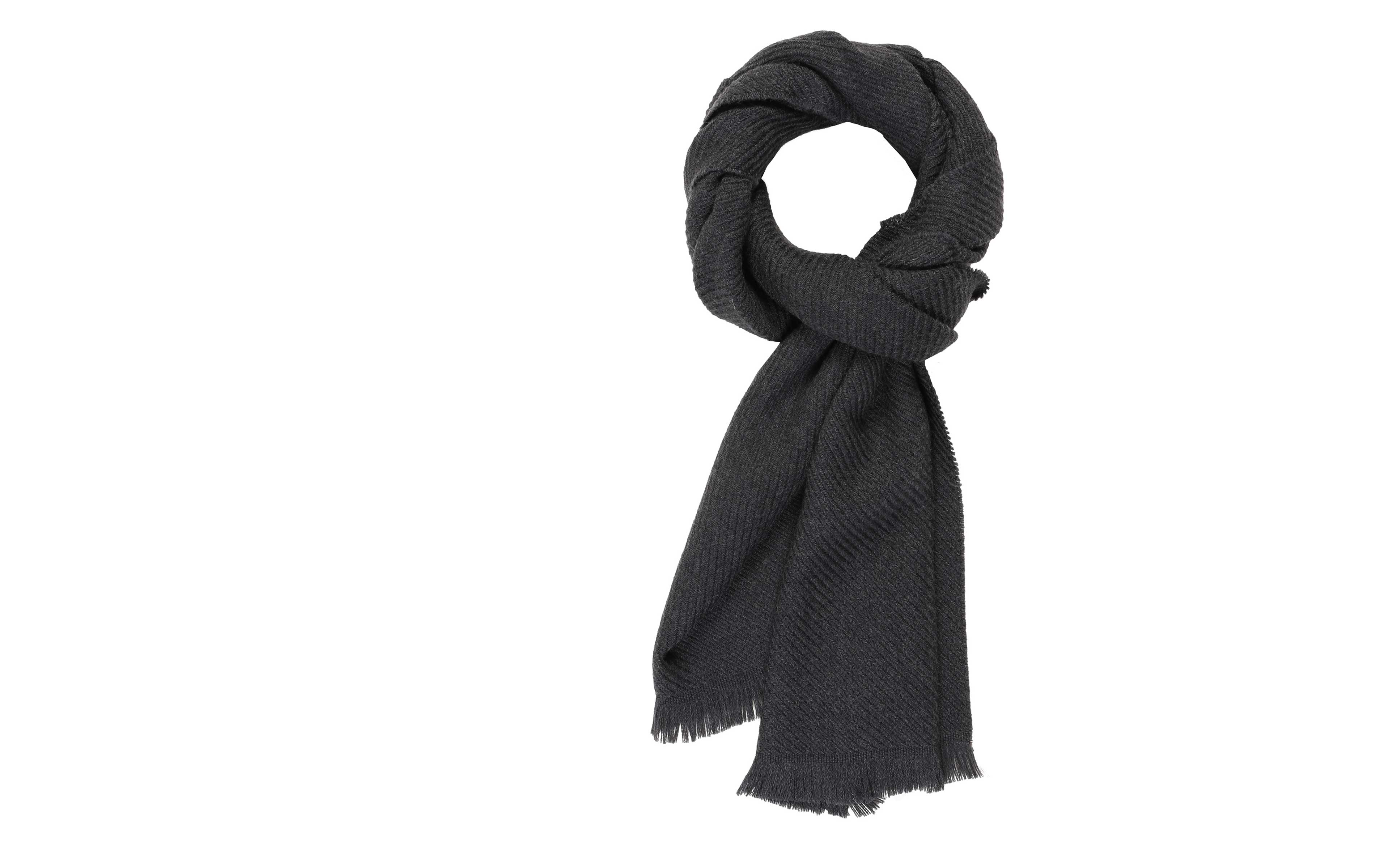 Solid Charcoal Wool Scarf