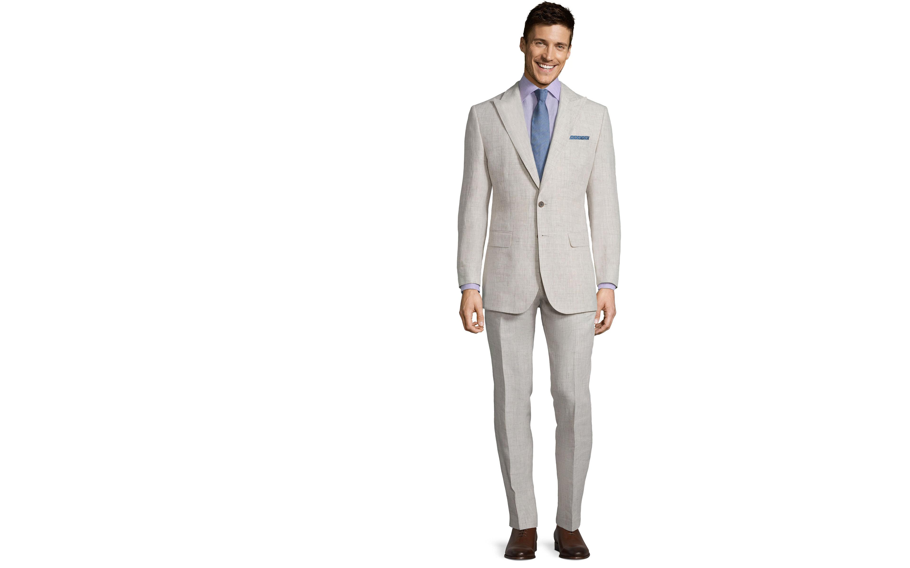Antique White Linen Suit