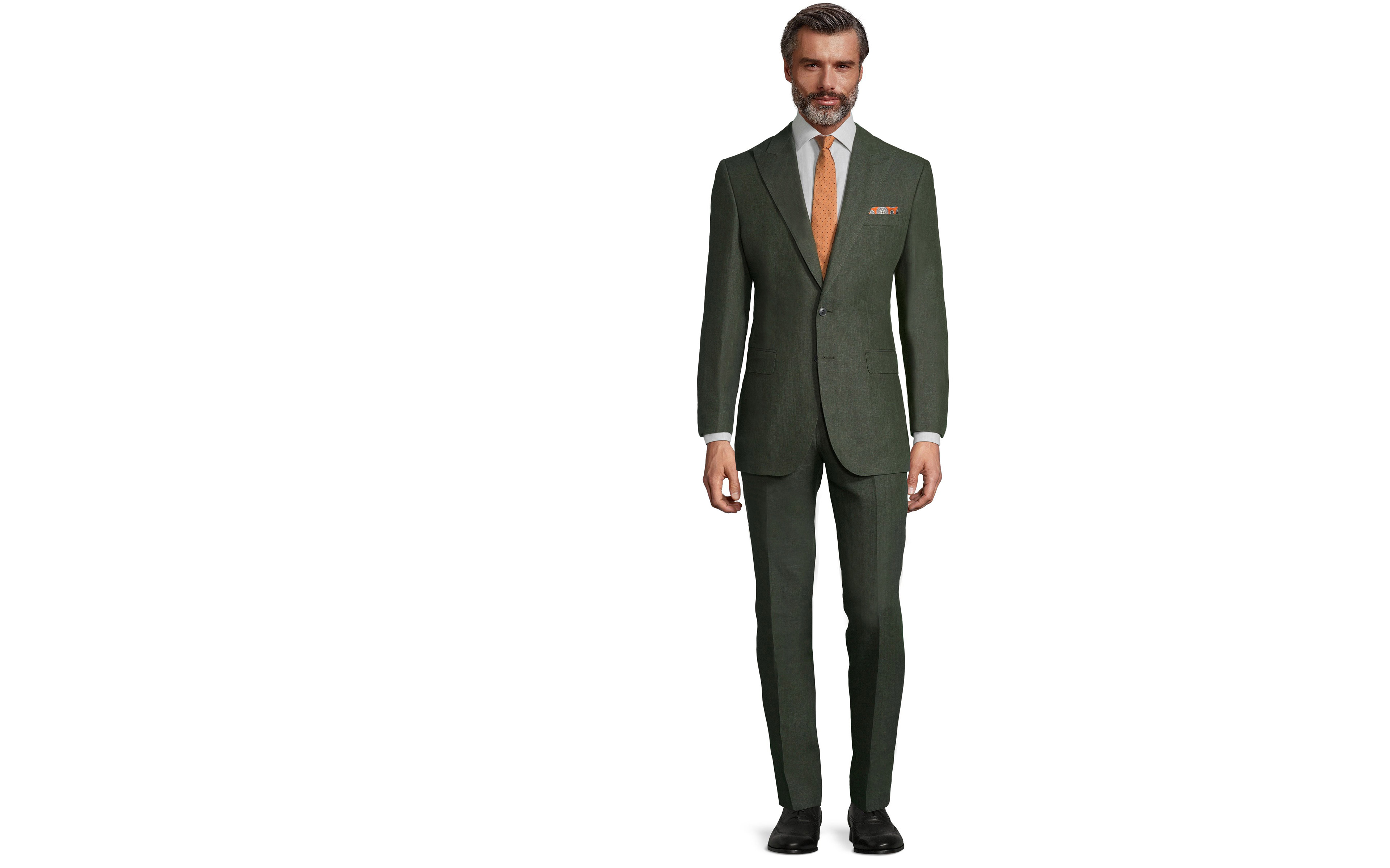 Forest Green Linen Suit