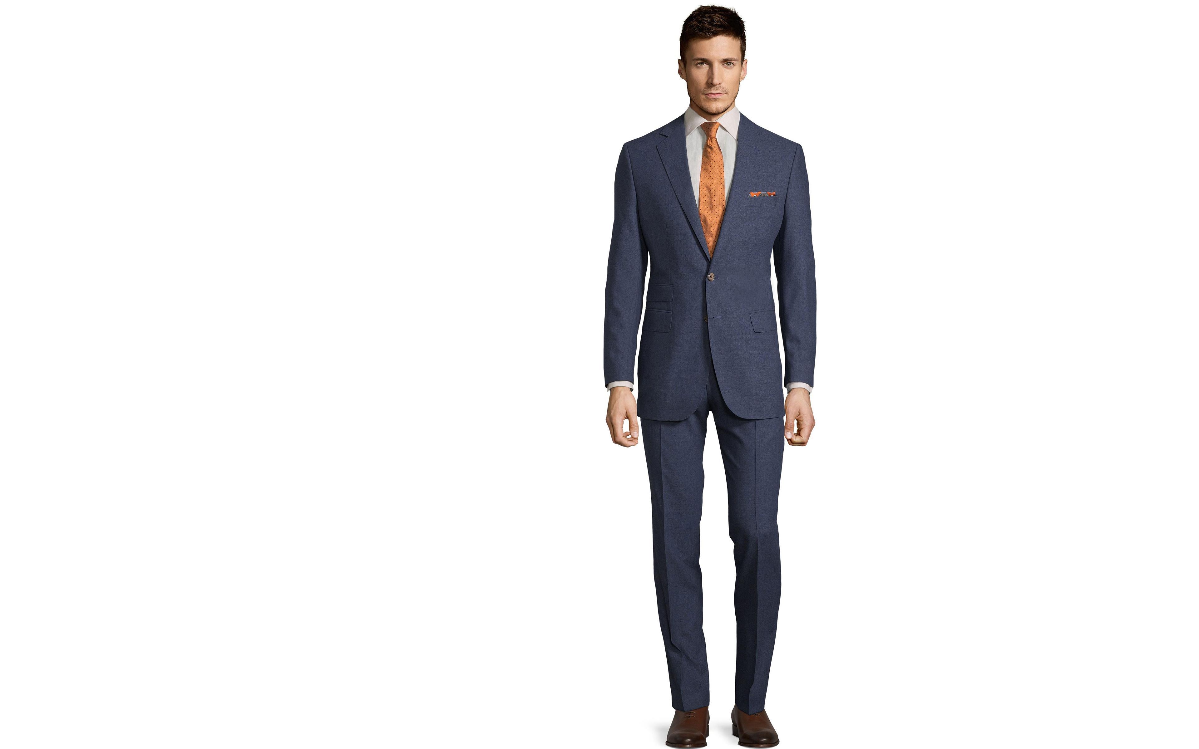 Tropical Chine Ocean Blue Suit