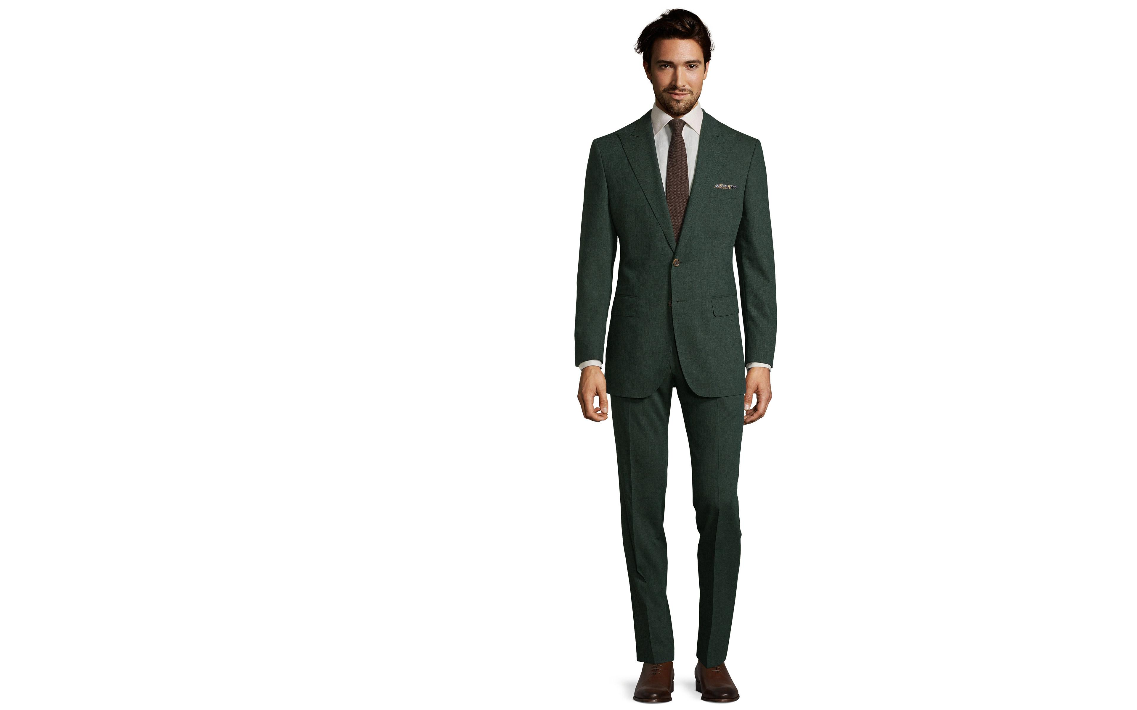 Tropical Chine Dark Green Suit