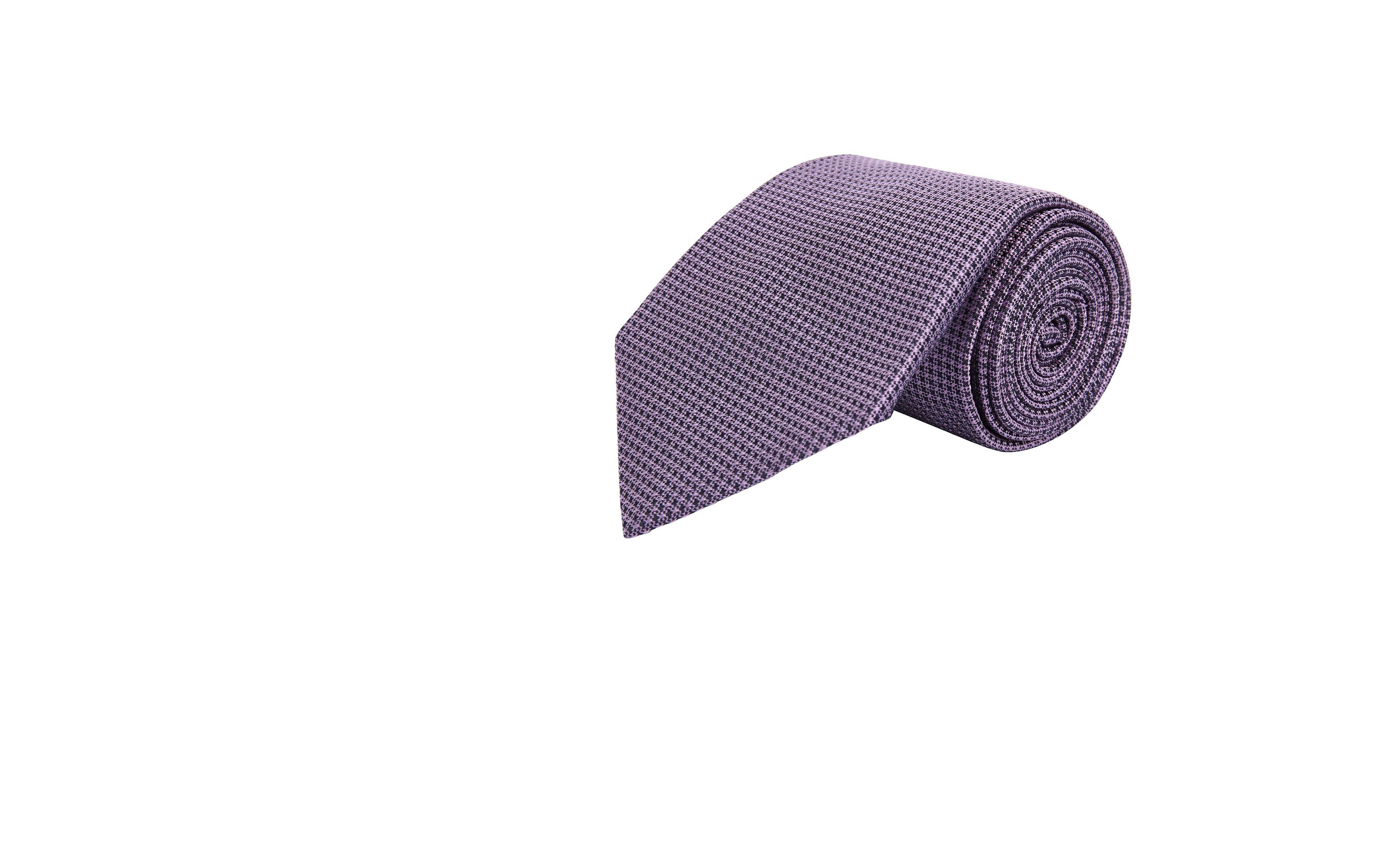 Lavender Hopsack Silk Tie