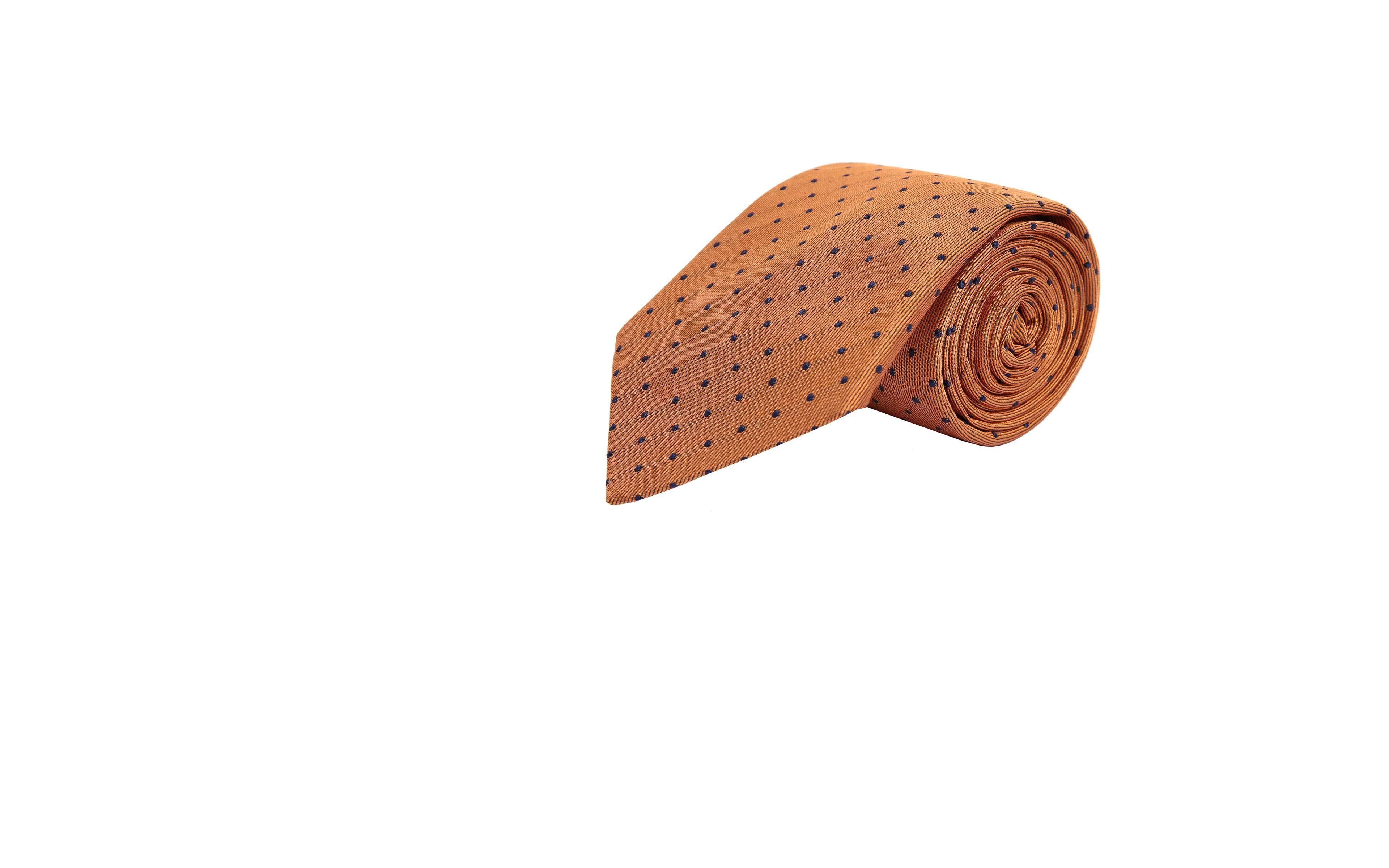Copper Dotted Silk Tie