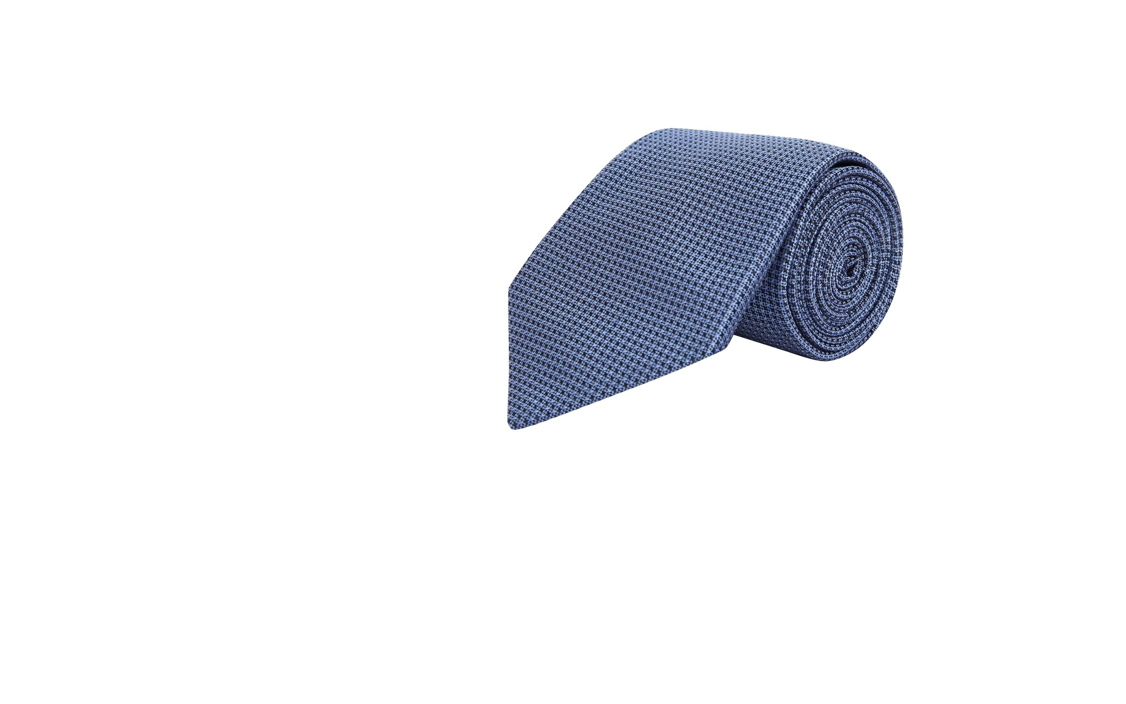 Light Blue Hopsack Silk Tie