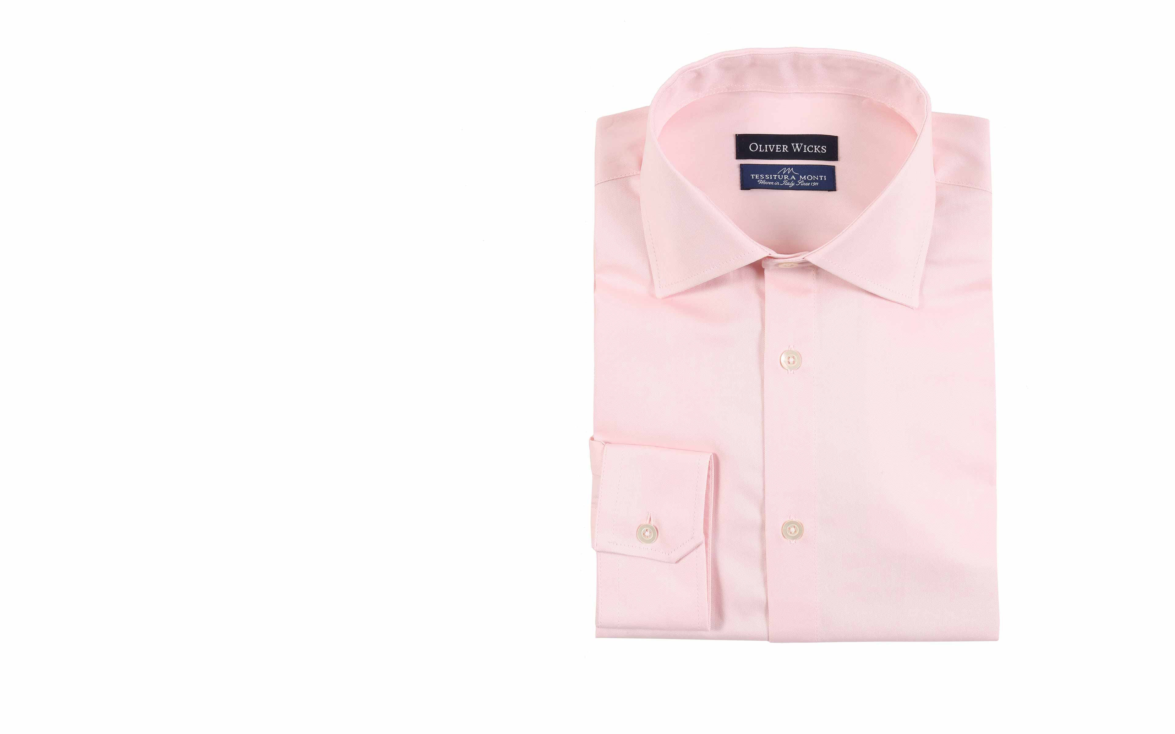 Melon Pink Two-Ply Cotton Twill Shirt