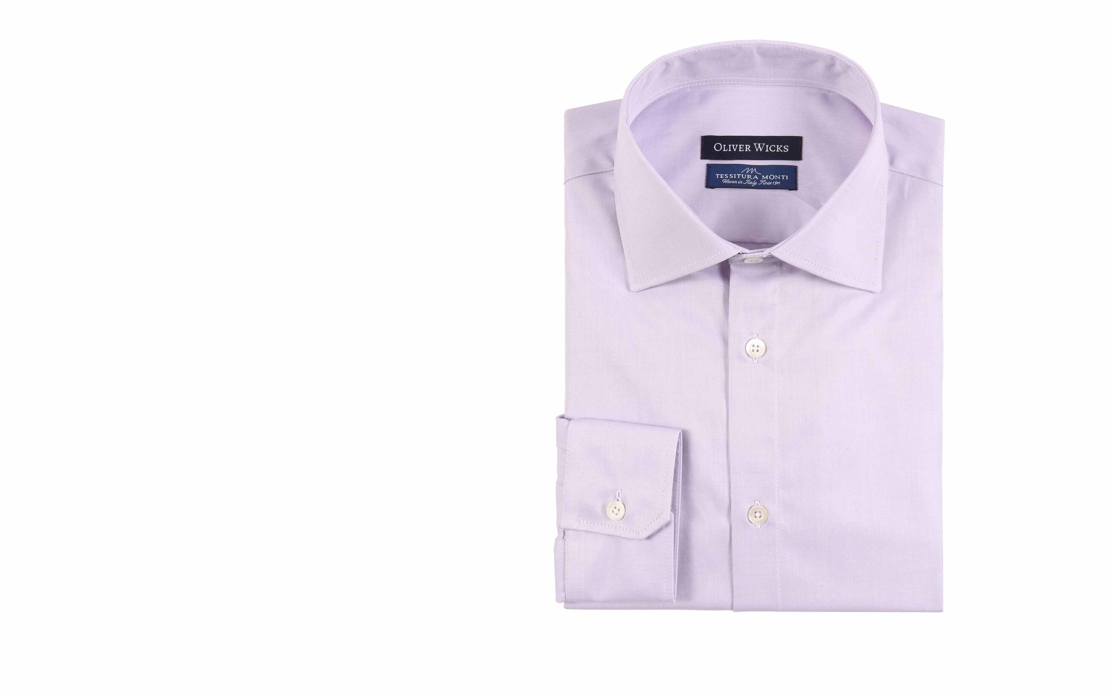 Lavender Two-Ply Cotton Twill Shirt