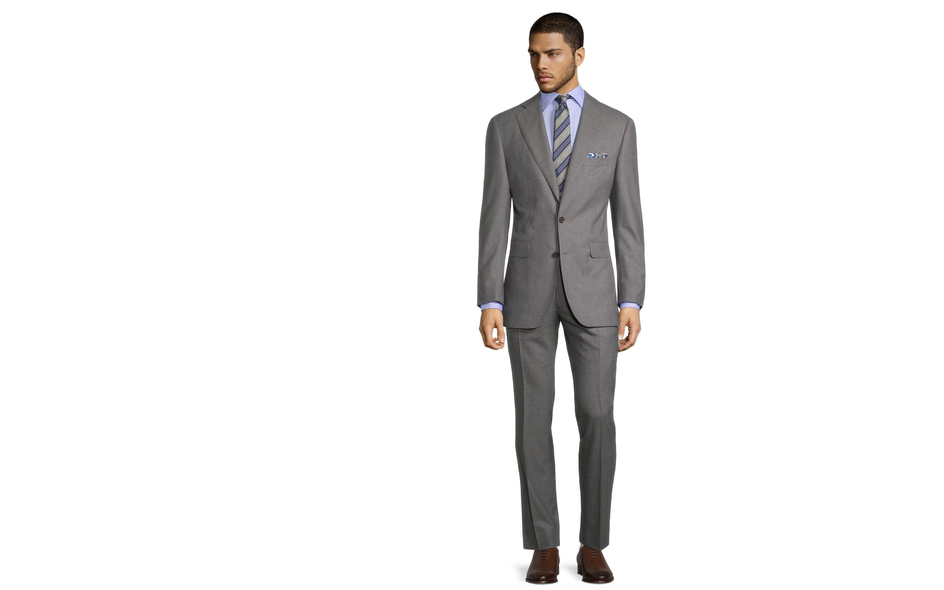 Sartorial Blue Stripe Grey 160s Suit