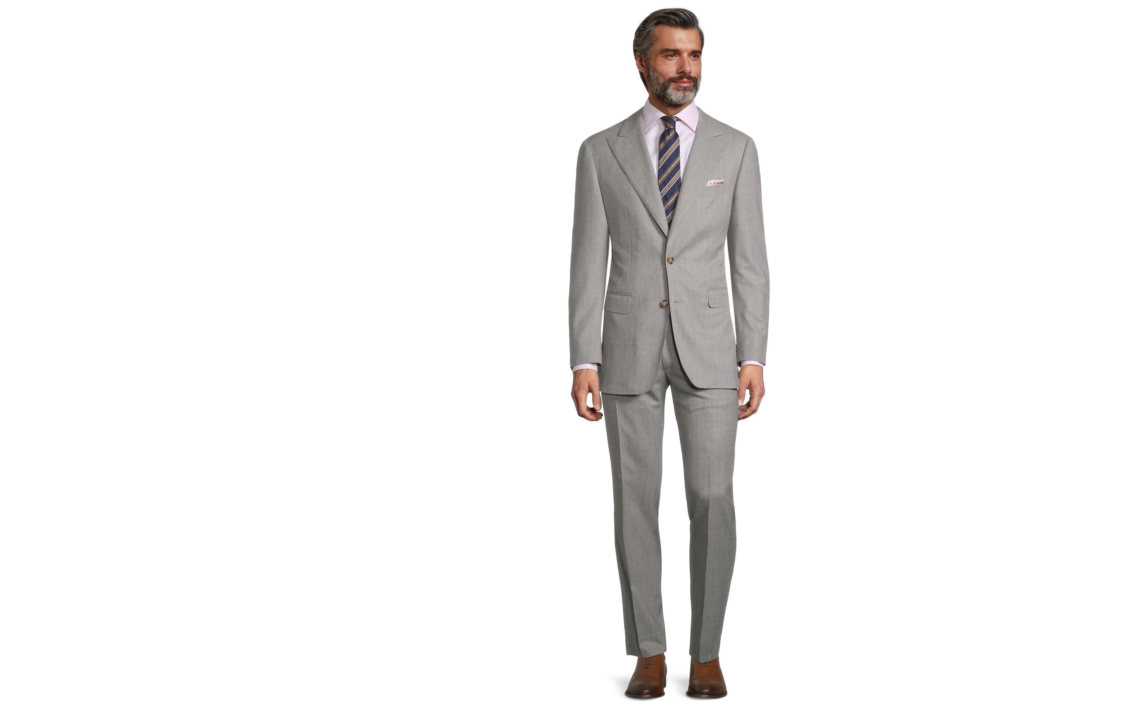Sartorial Mustard Stripe Light Grey 160s Suit
