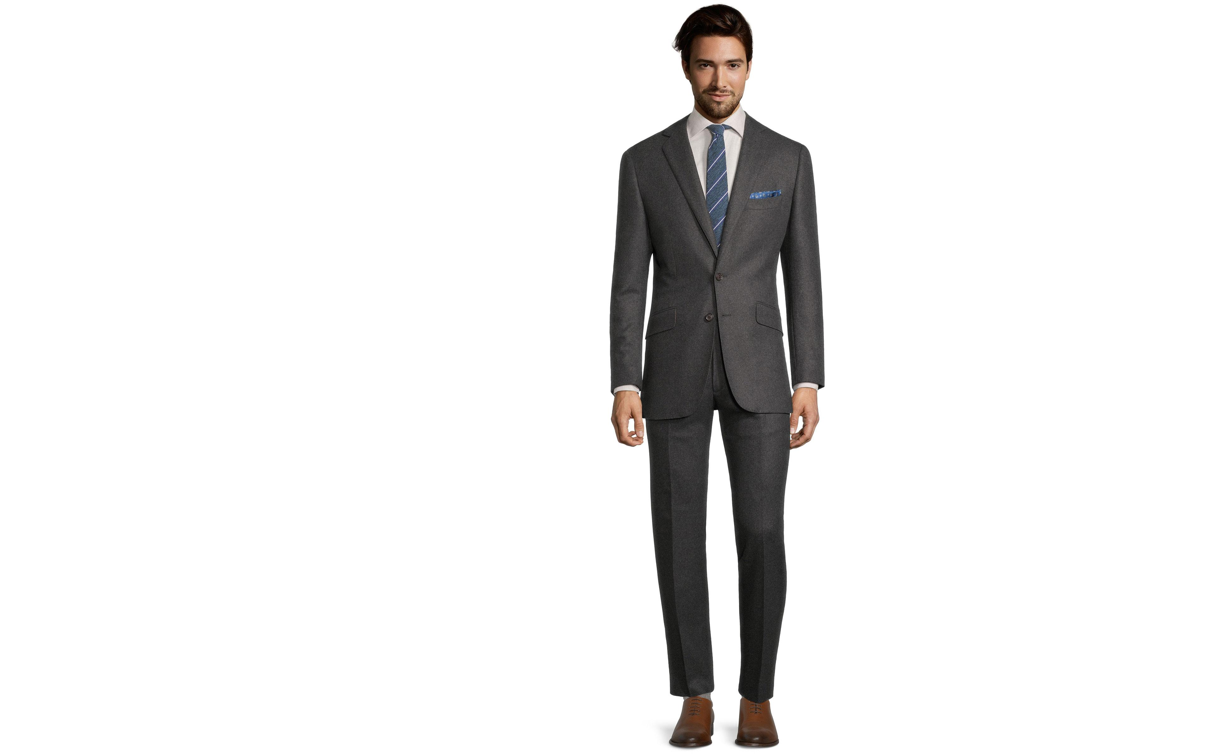 Sartorial Dark Grey Flannel 180s Suit