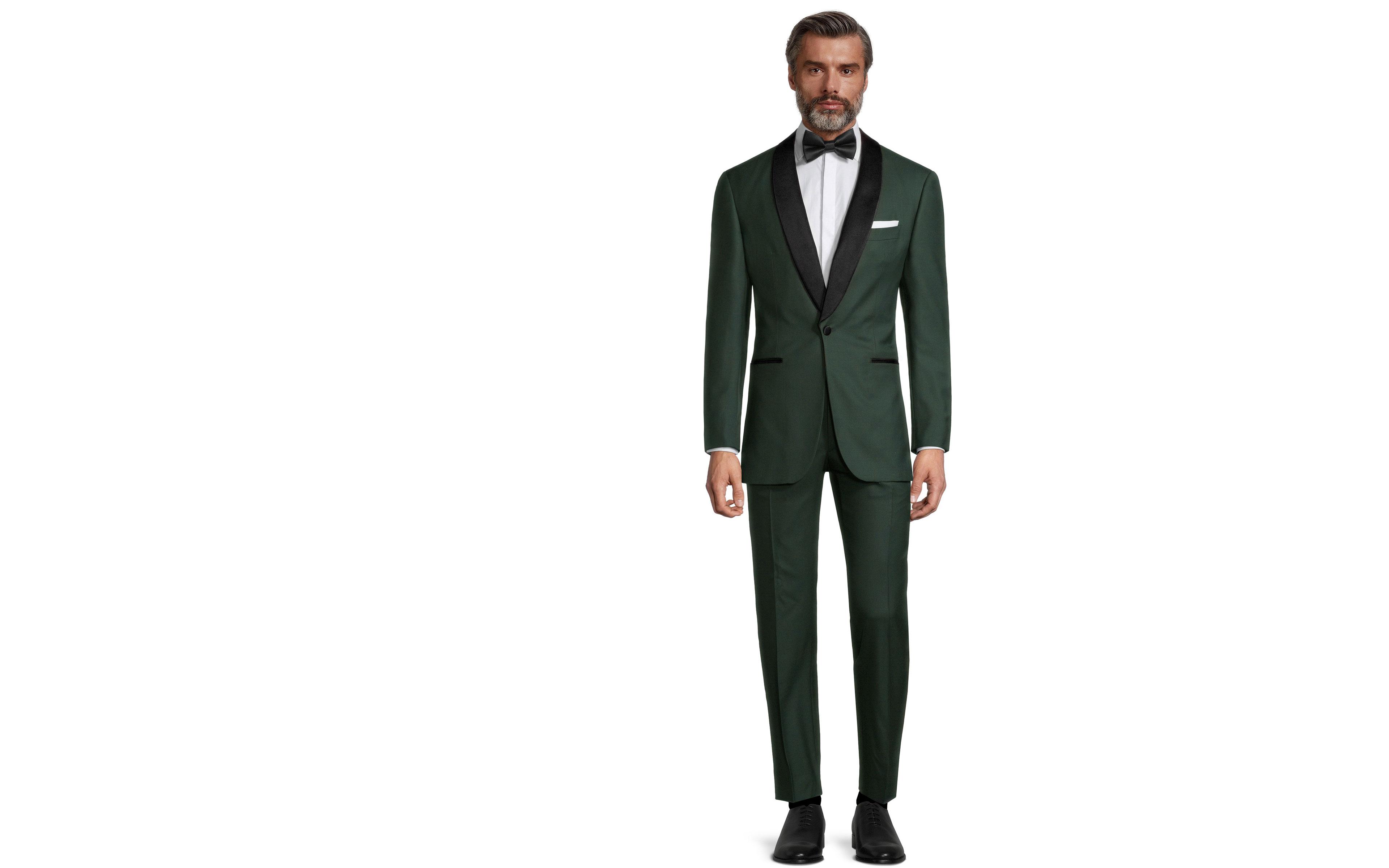 Vendetta Premium Solid Dark Green Tuxedo