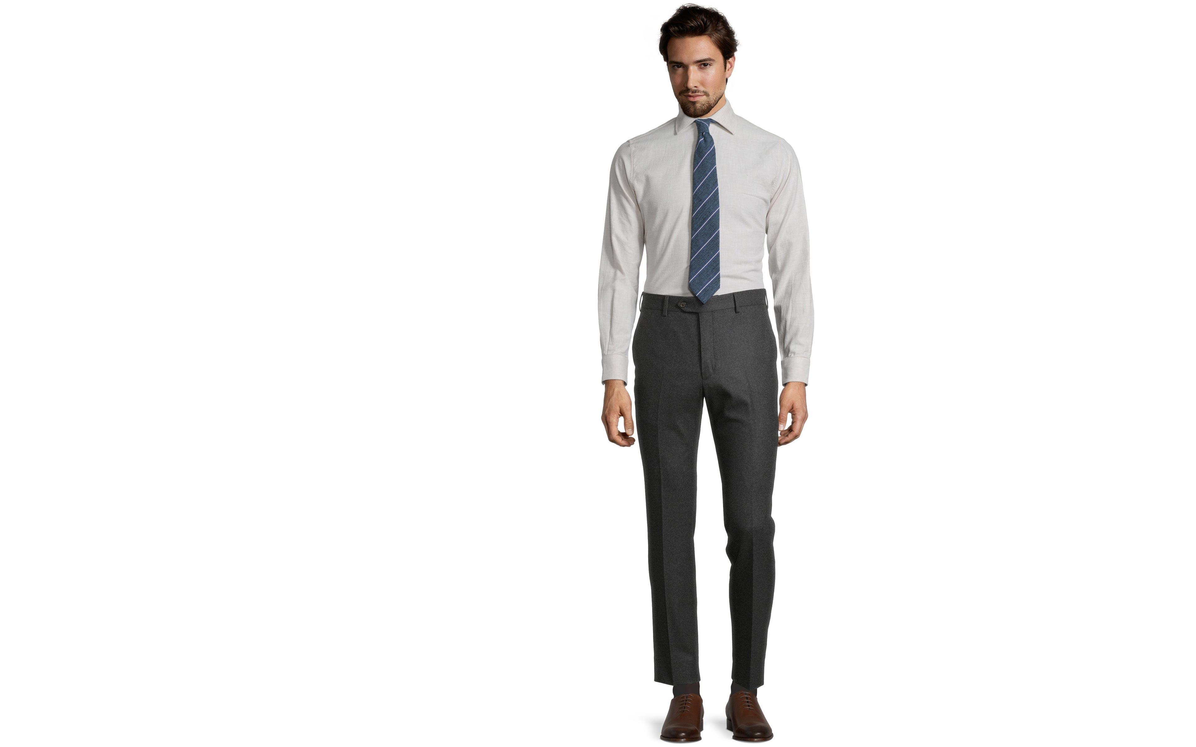 Sartorial Dark Grey Flannel 180s Pants