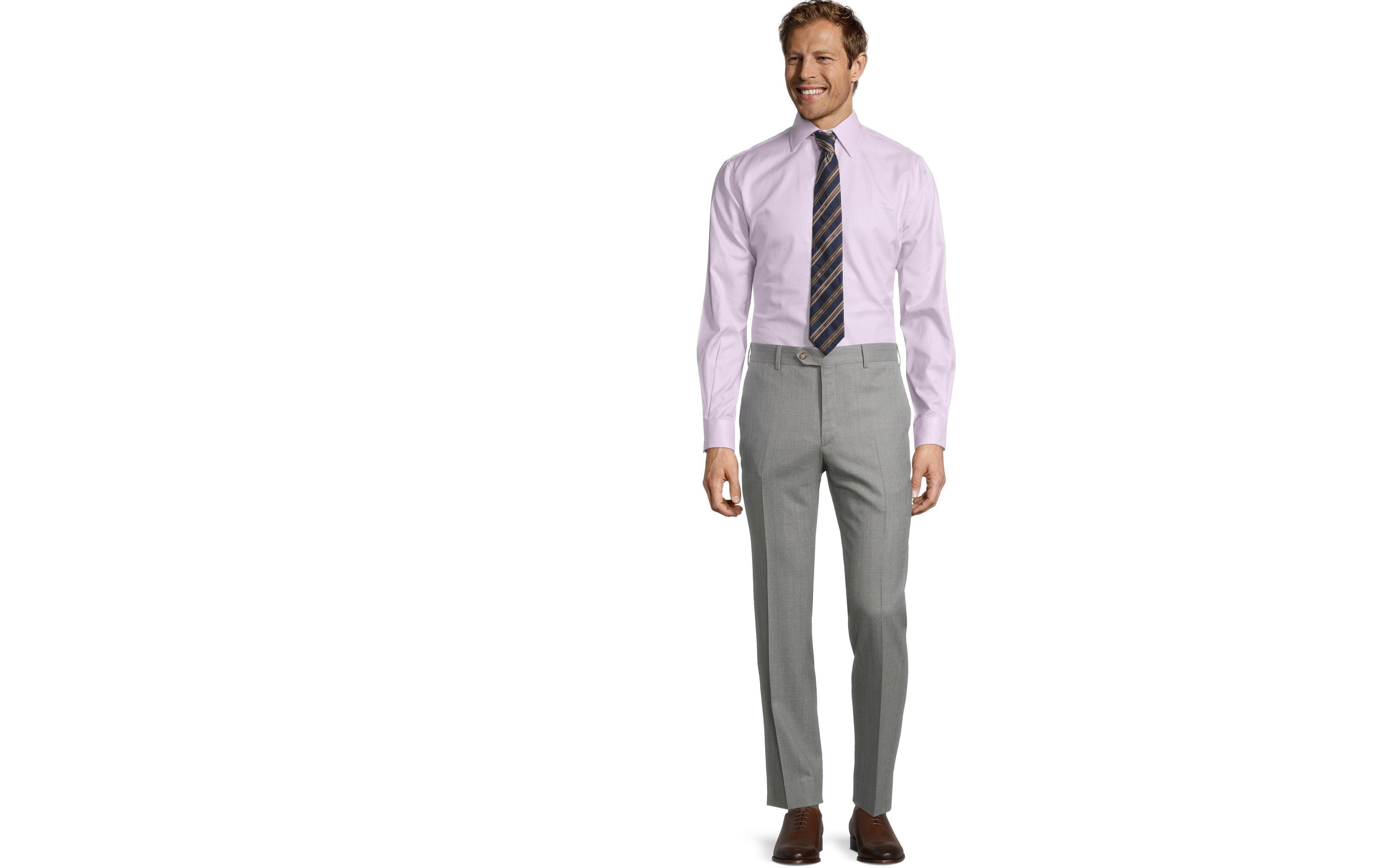 Sartorial Mustard Stripe Light Grey 160s Pants