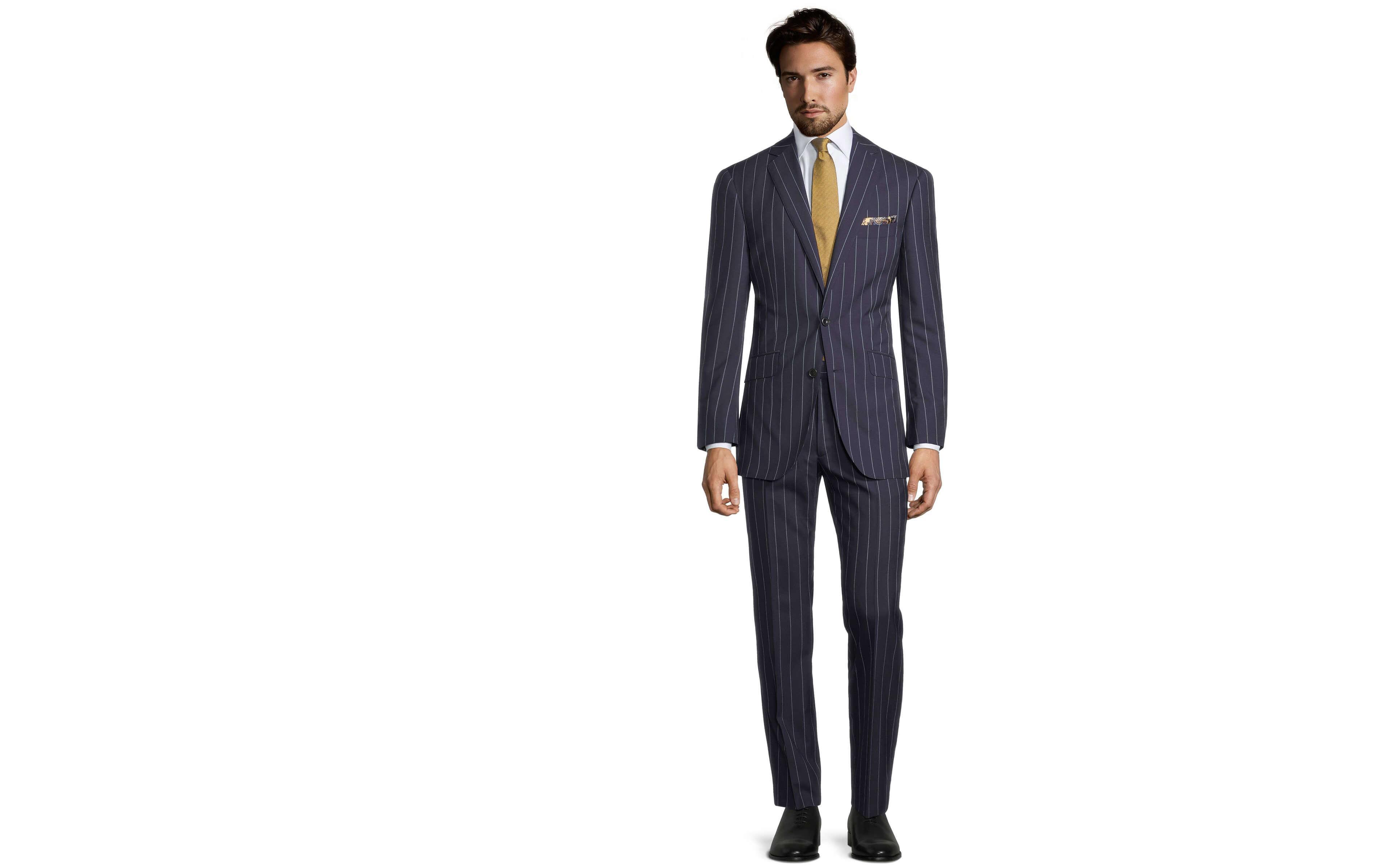 Deep Blue Wide Stripe Suit