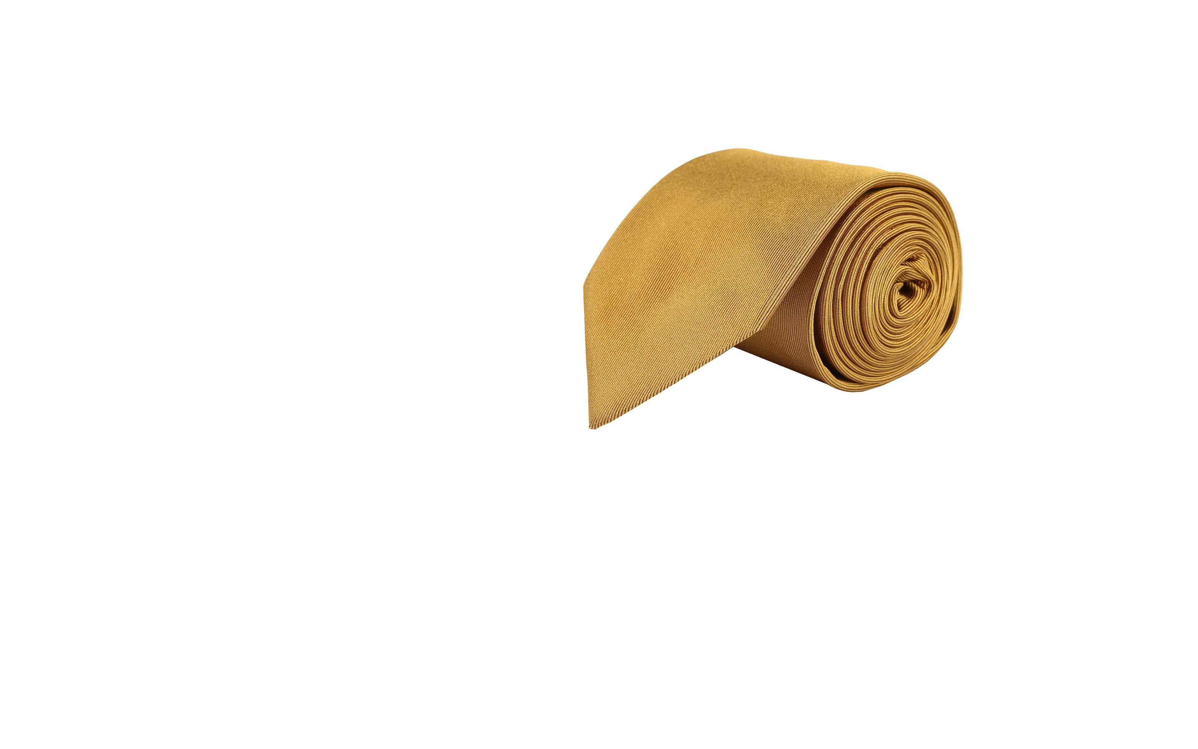 Solid Gold Silk Tie