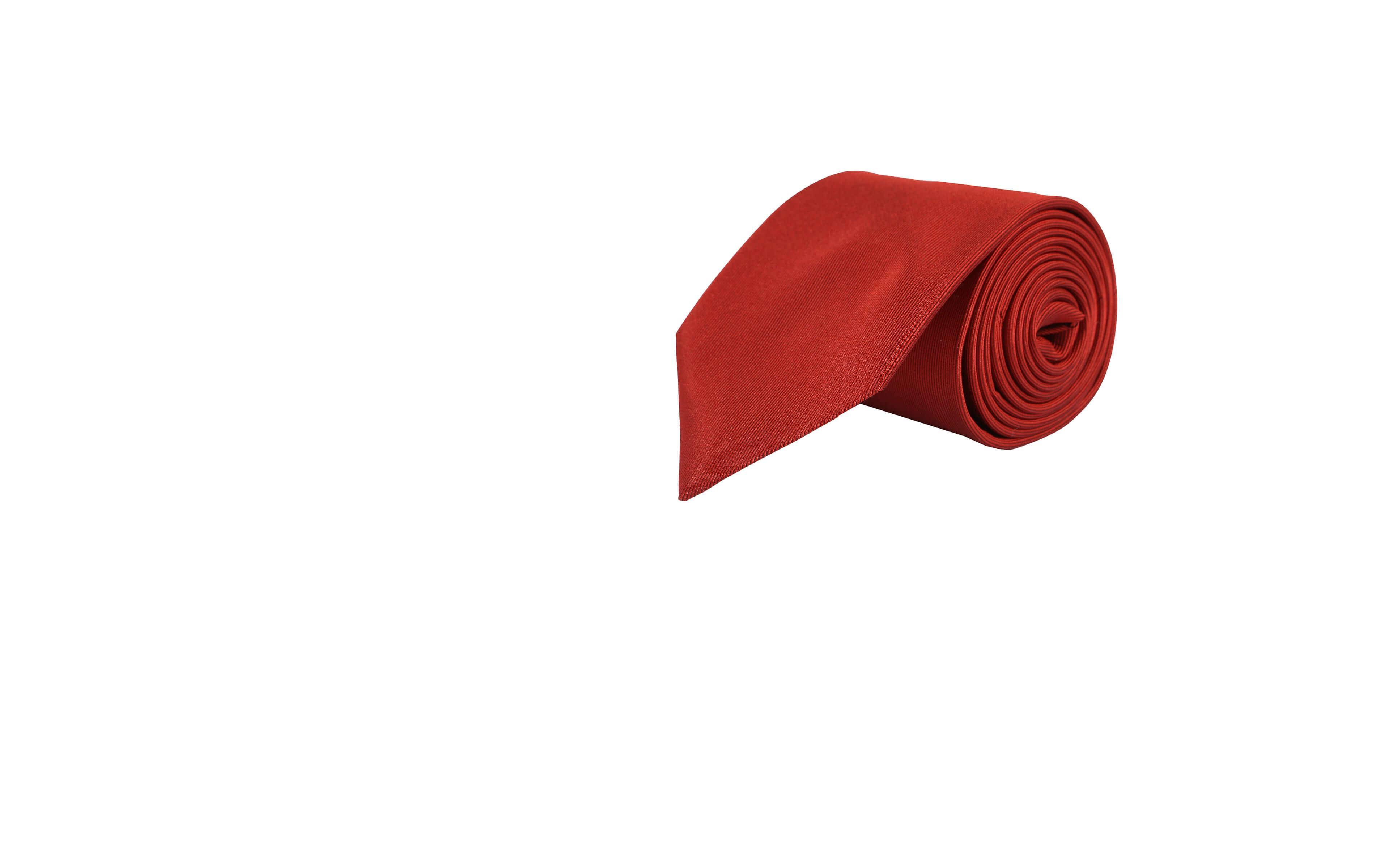 Solid Copper Silk Tie