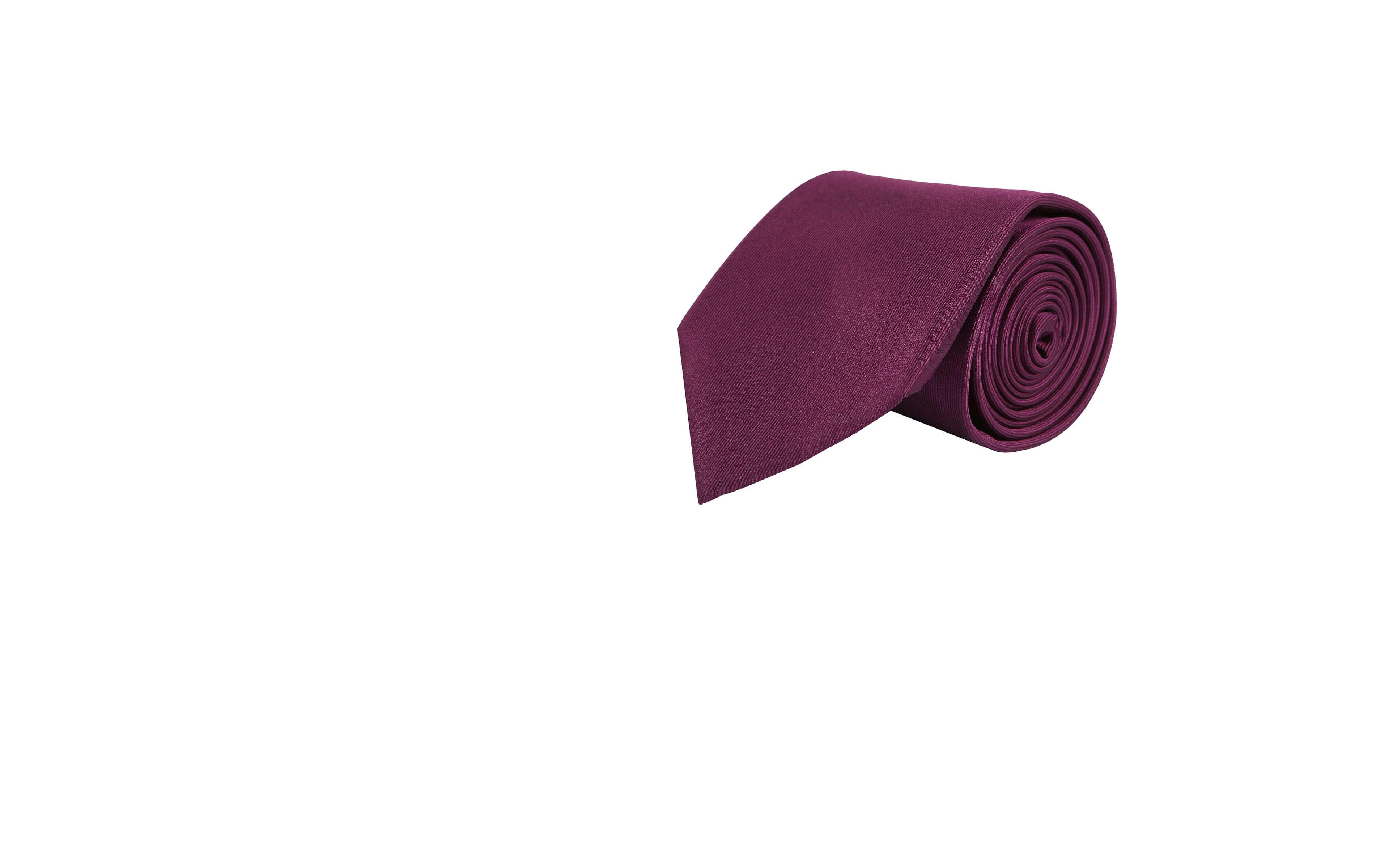 Solid Purple Silk Tie