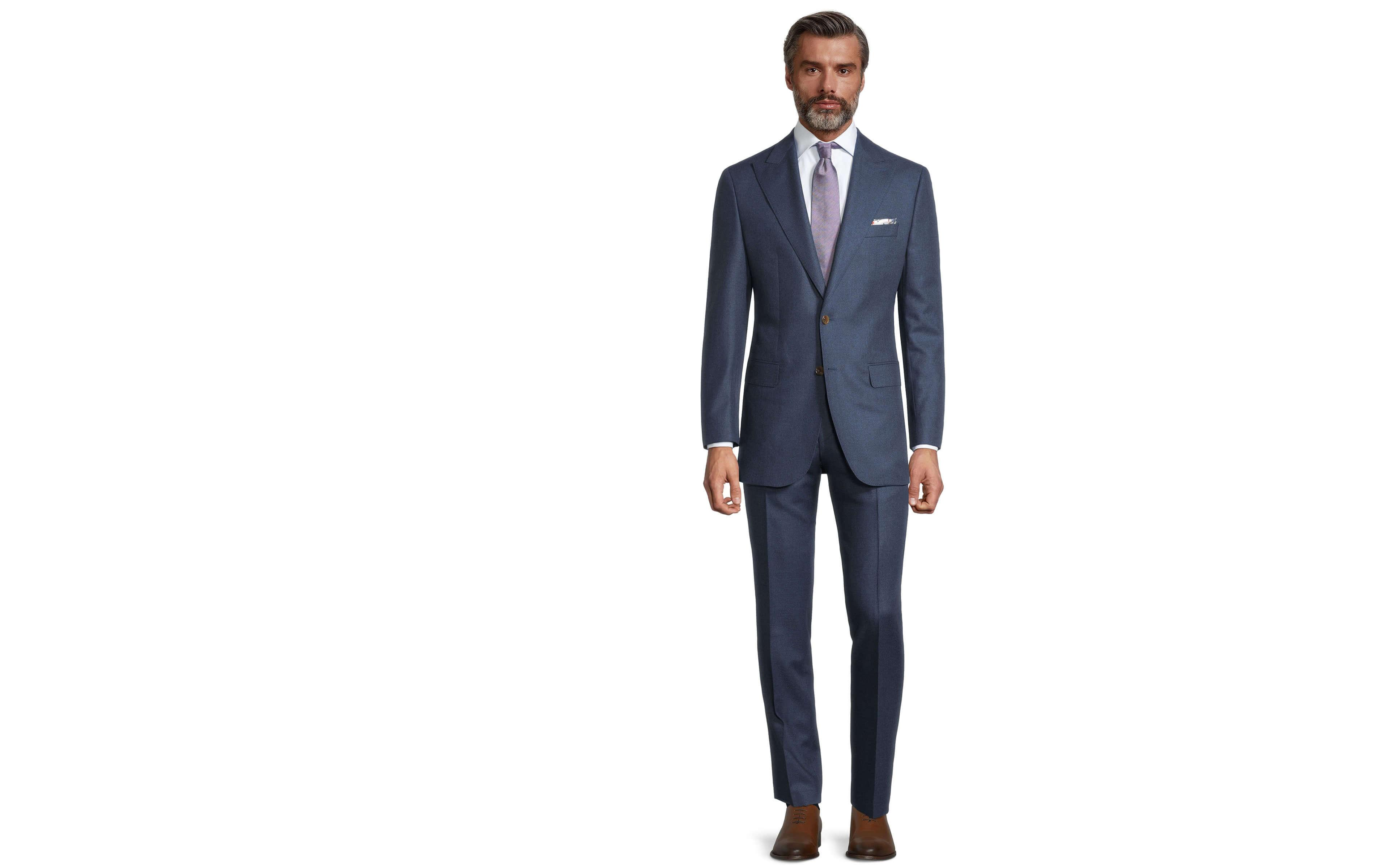 Worsted Chine Intense Blue Suit