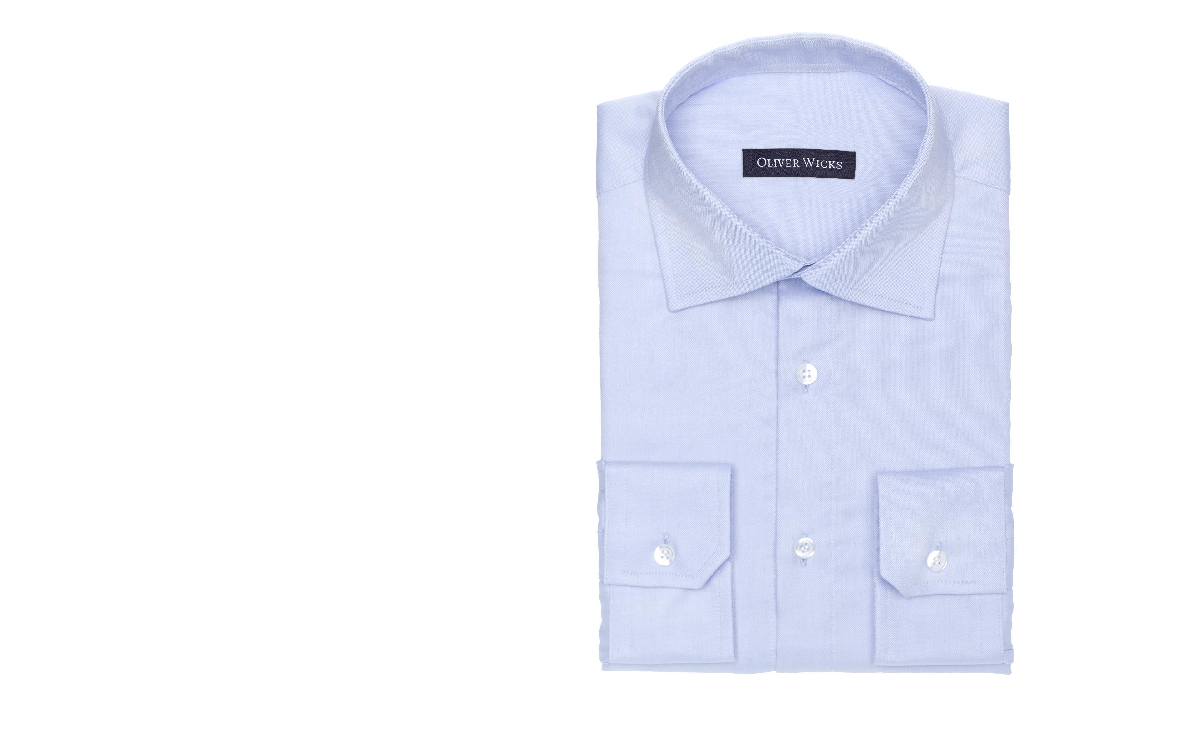 Light Blue Cotton Oxford Shirt