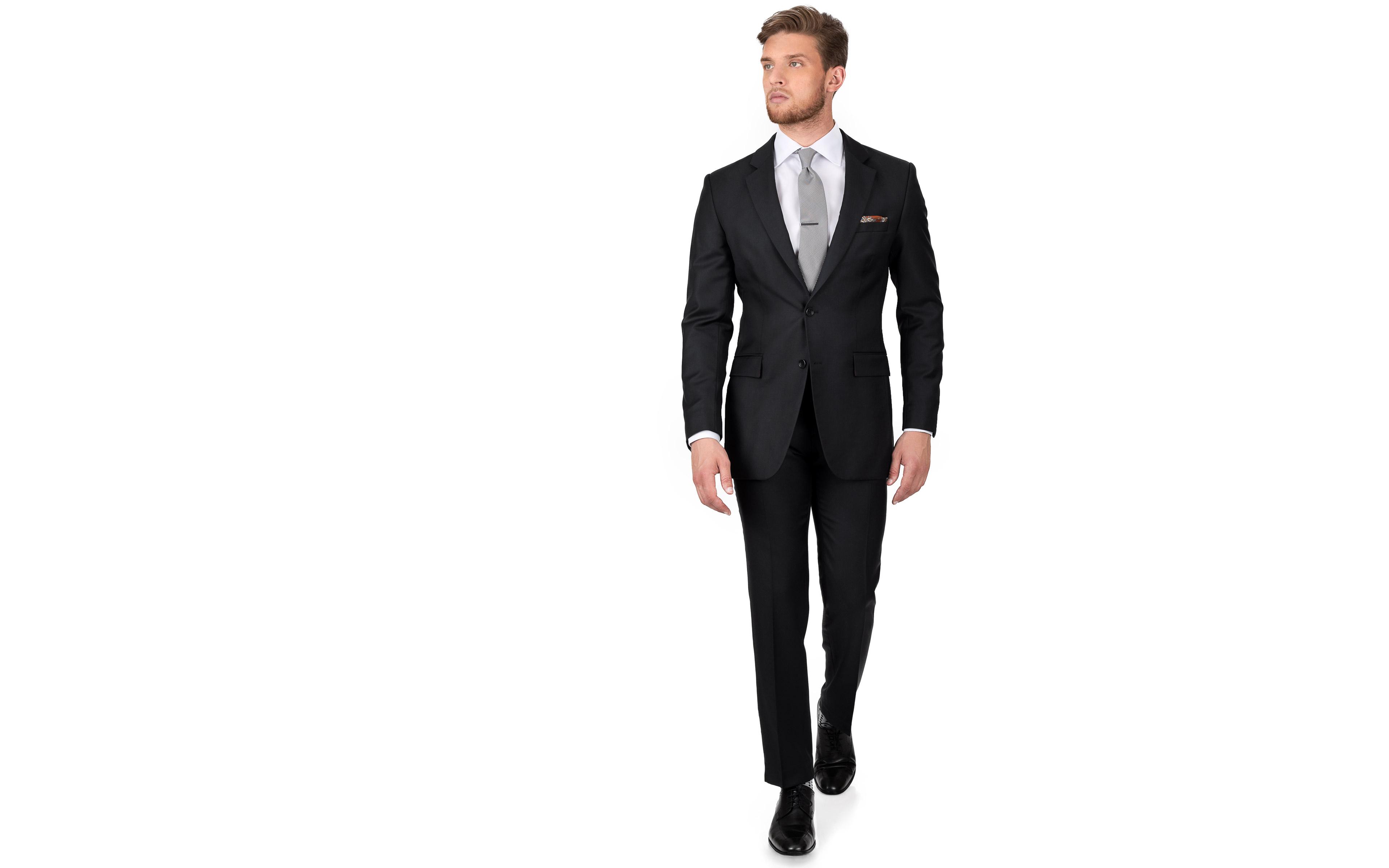 Solid Black Suit