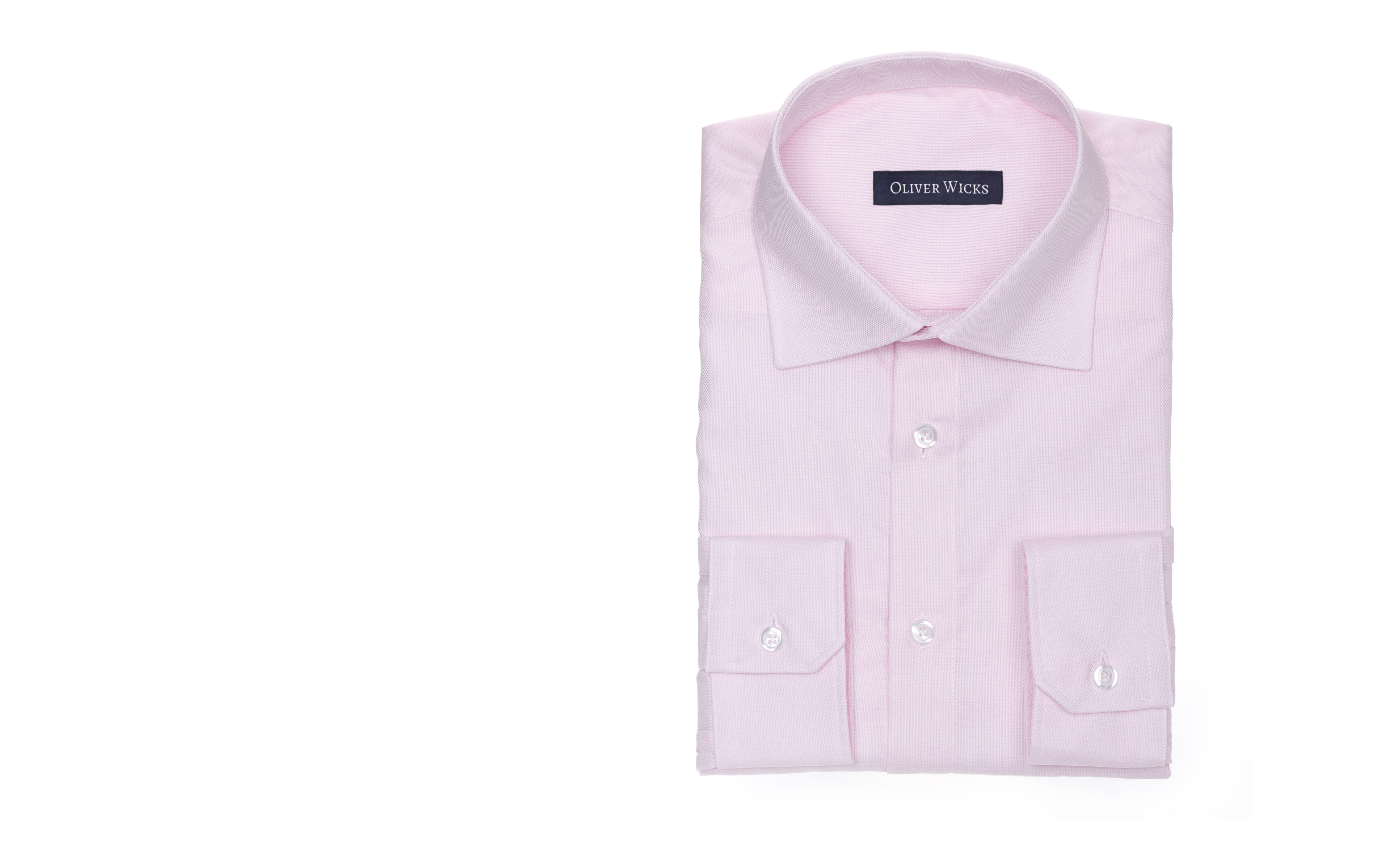 Light Pink Two-Ply Cotton Oxford Shirt