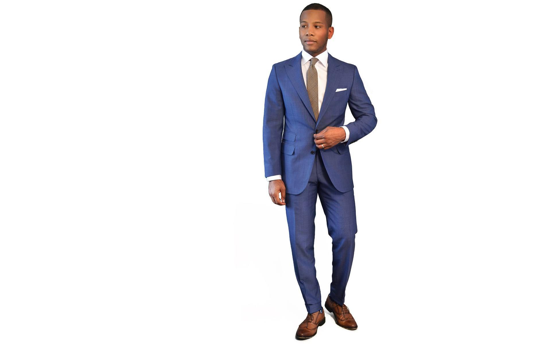 Men's Style Pro Sky Blue Suit