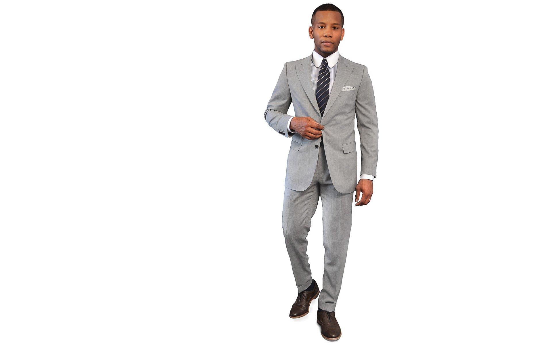 Men's Style Pro Light Grey Suit